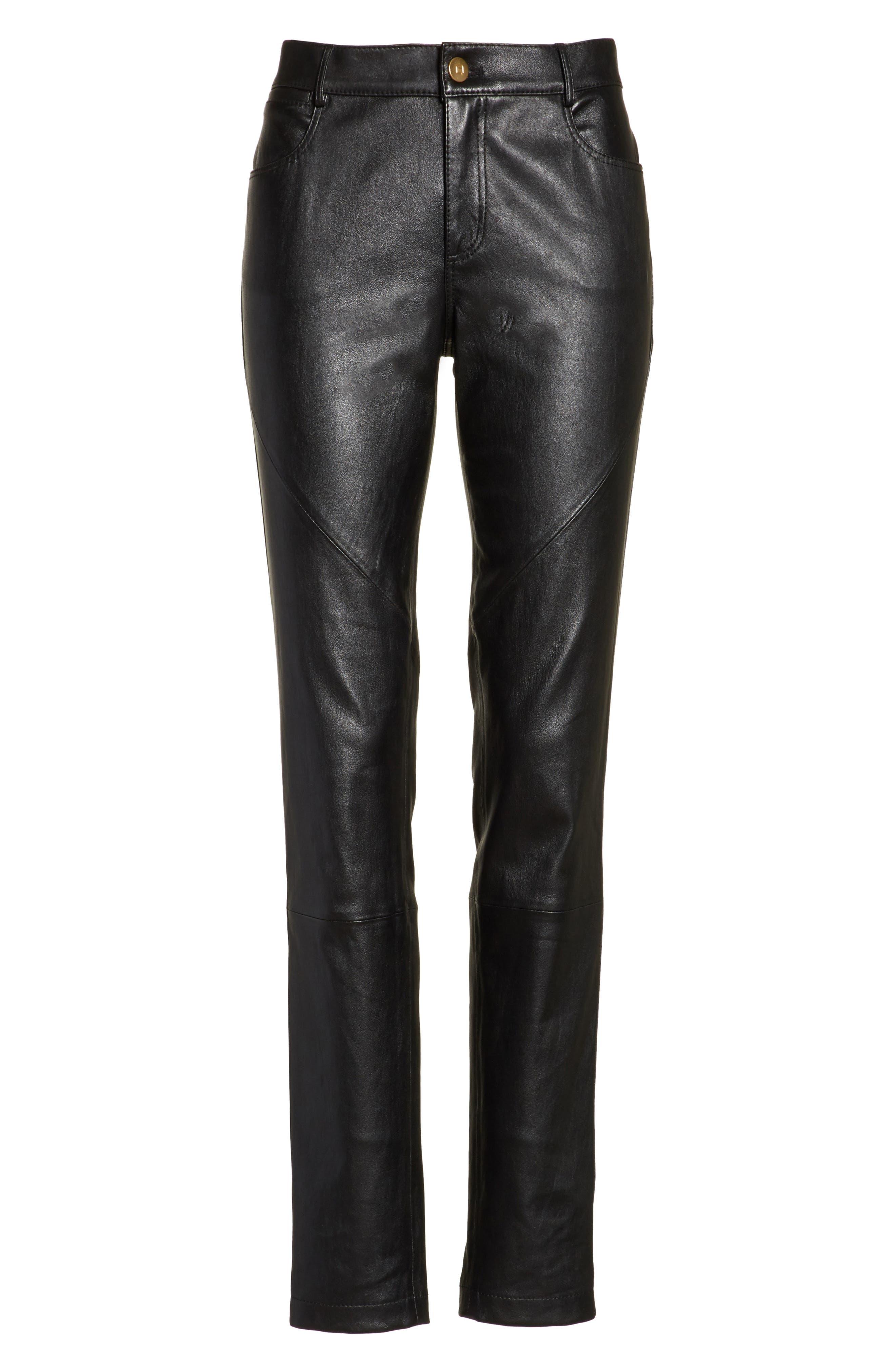 Alternate Image 6  - Lafayette 148 New York Mercer Nappa Leather Pants