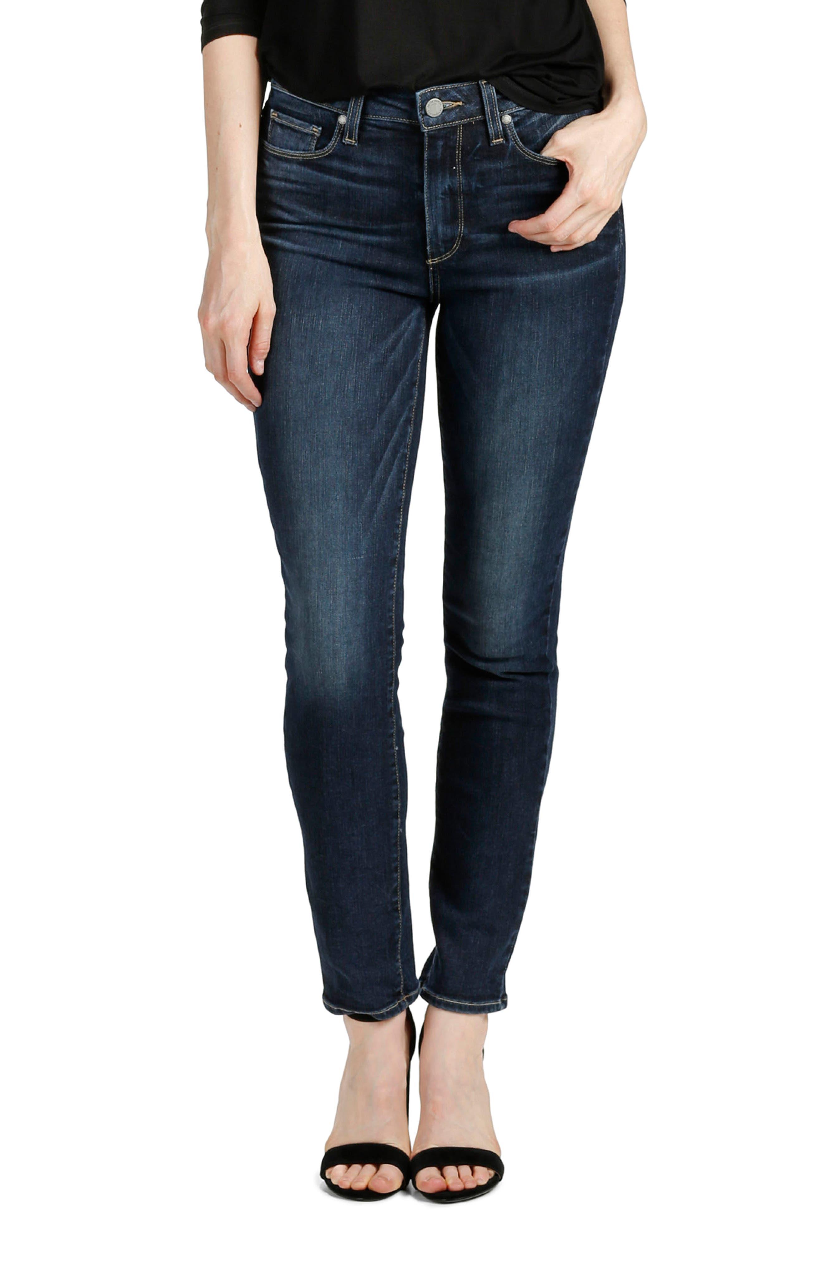 Main Image - PAIGE Transcend Vintage - Hoxton Ankle Peg Skinny Jeans (Jerry Girl)