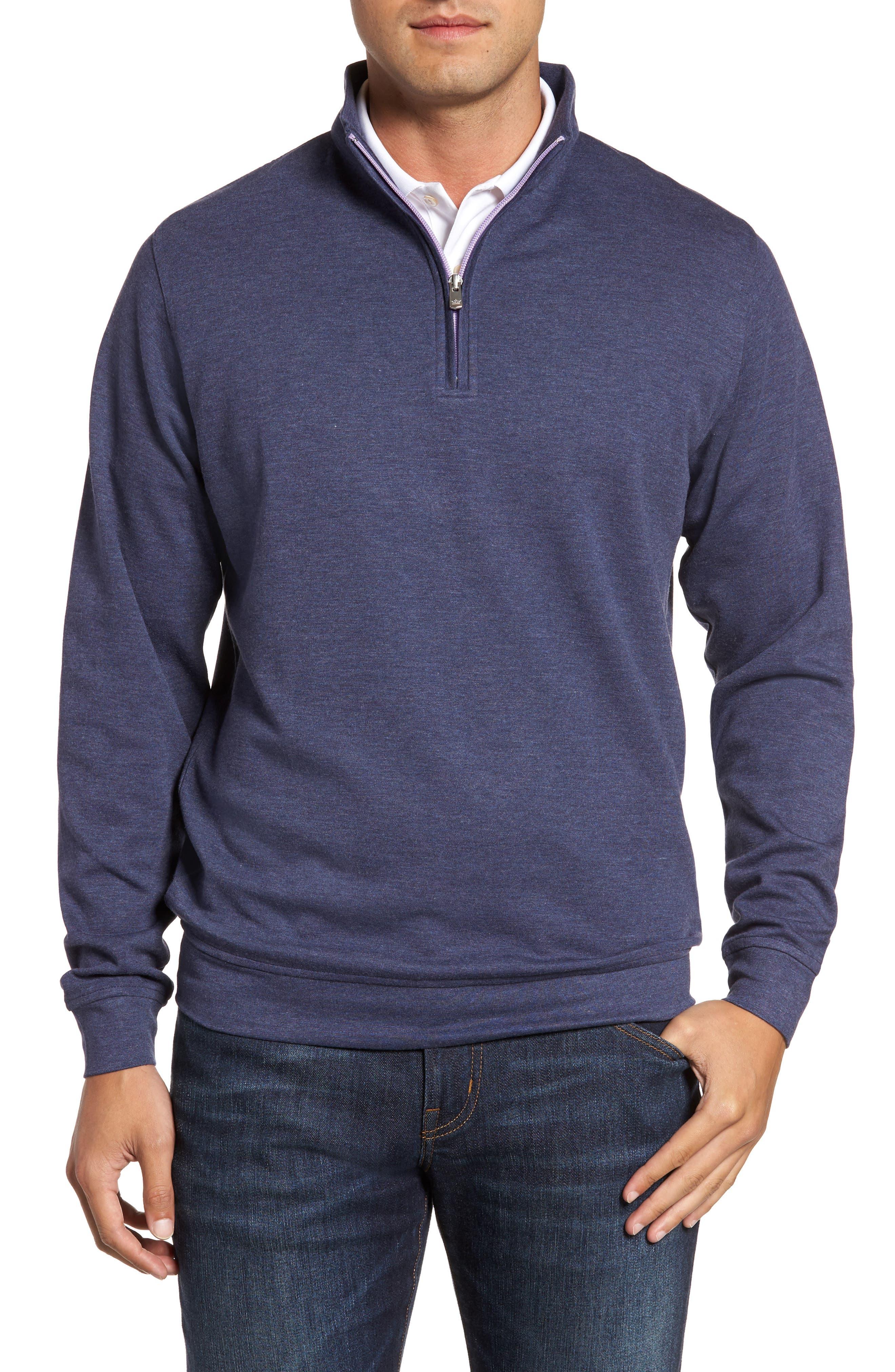 Crown Comfort Jersey Quarter Zip Pullover,                         Main,                         color, Yankee Blue 2