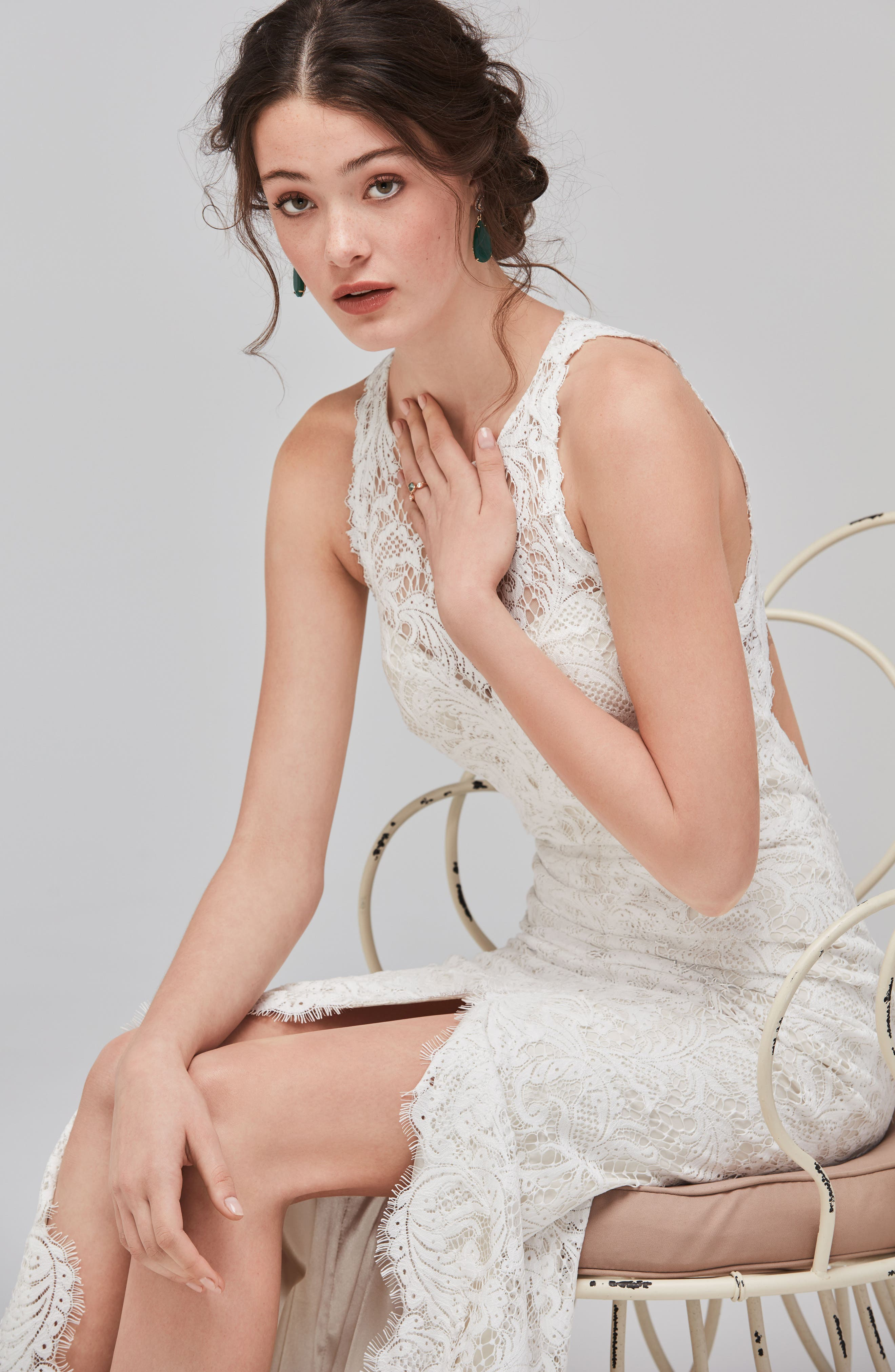 Alternate Image 3  - Willowby Adia Sleeveless Lace A-Line Gown