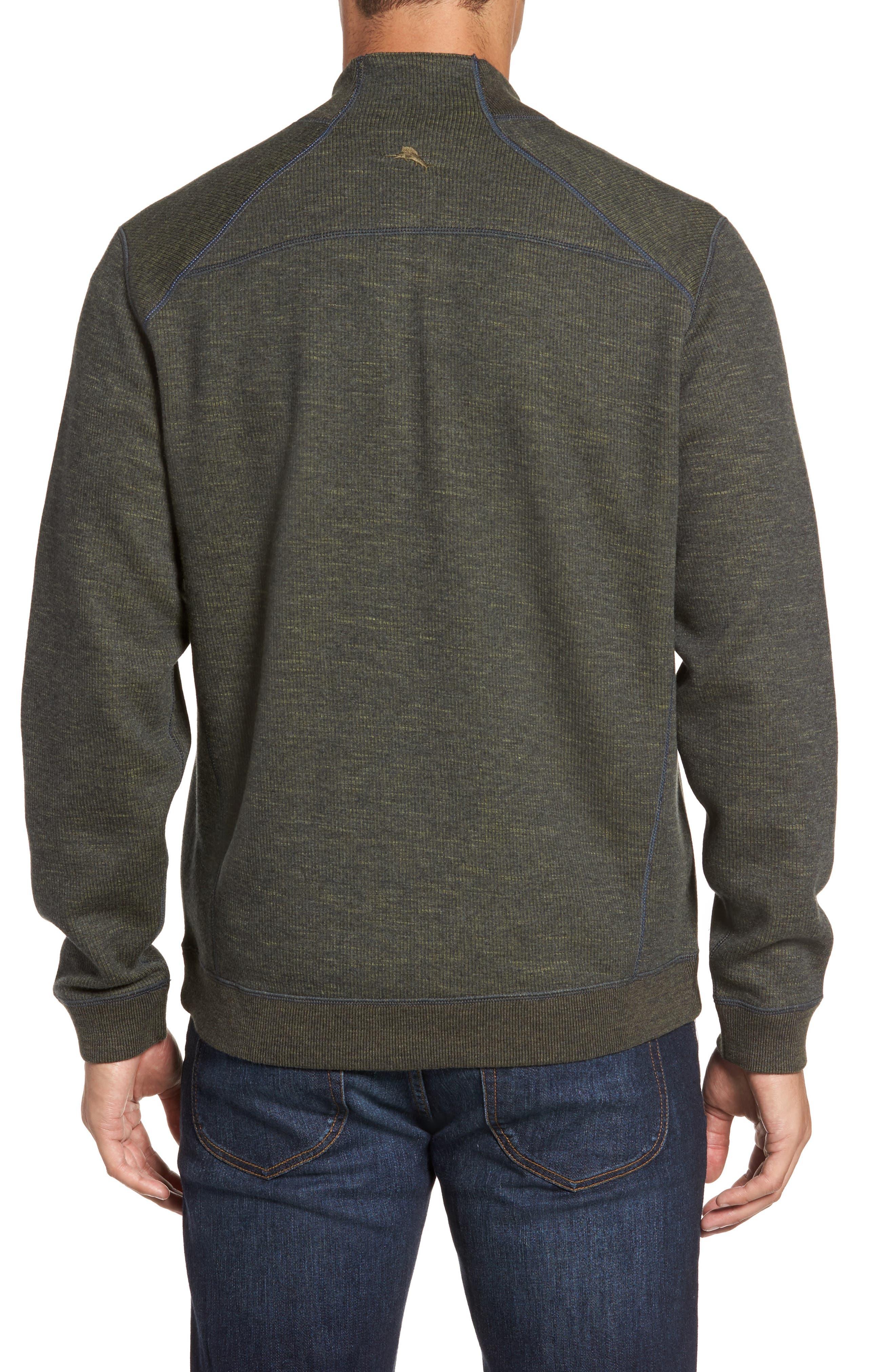 Flipsider Reversible Quarter-Zip Pullover,                             Alternate thumbnail 3, color,                             Steel Wool Heather