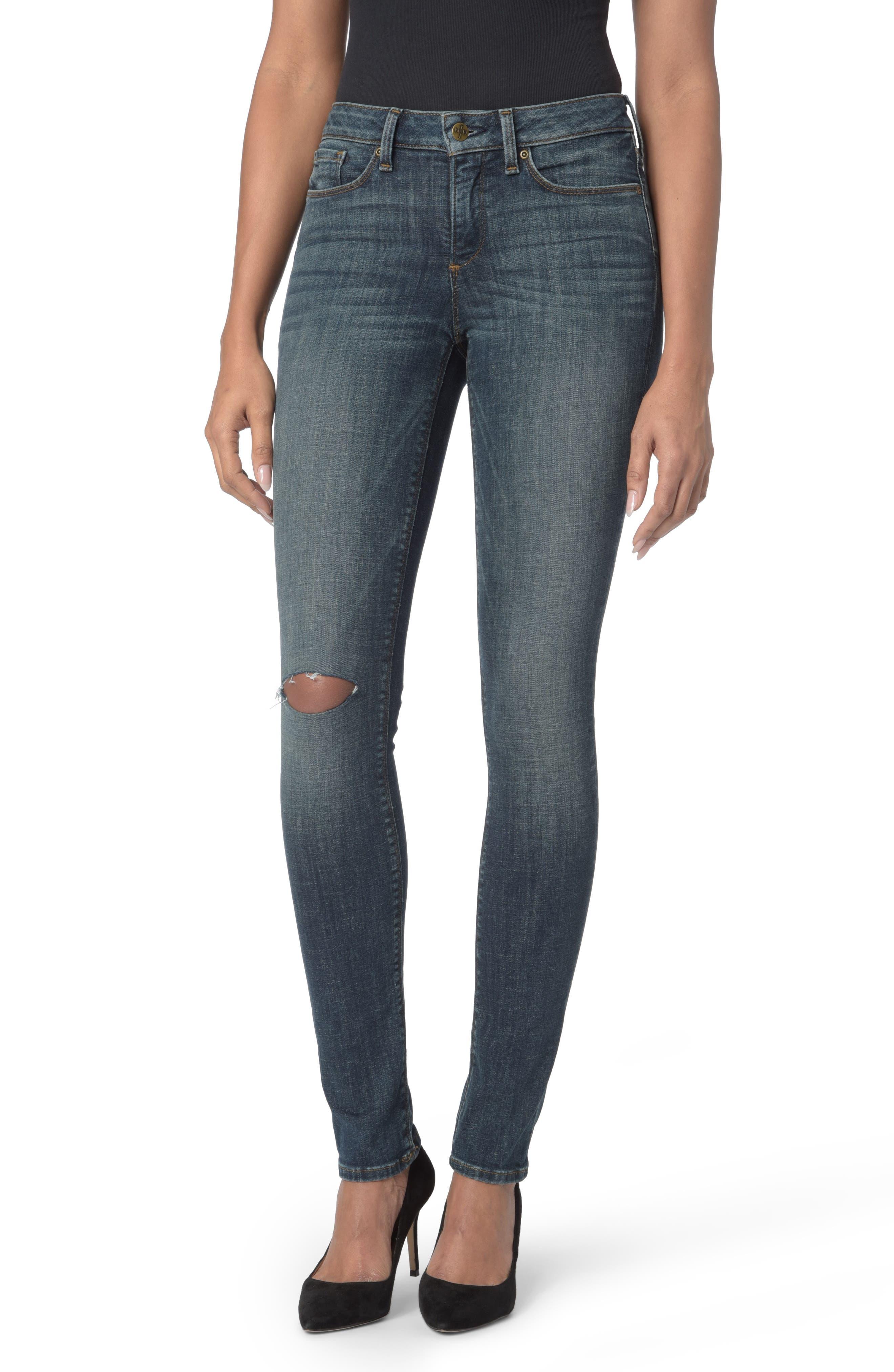 NYDJ Parker Stretch Slim Leg Jeans (Desert Gold)