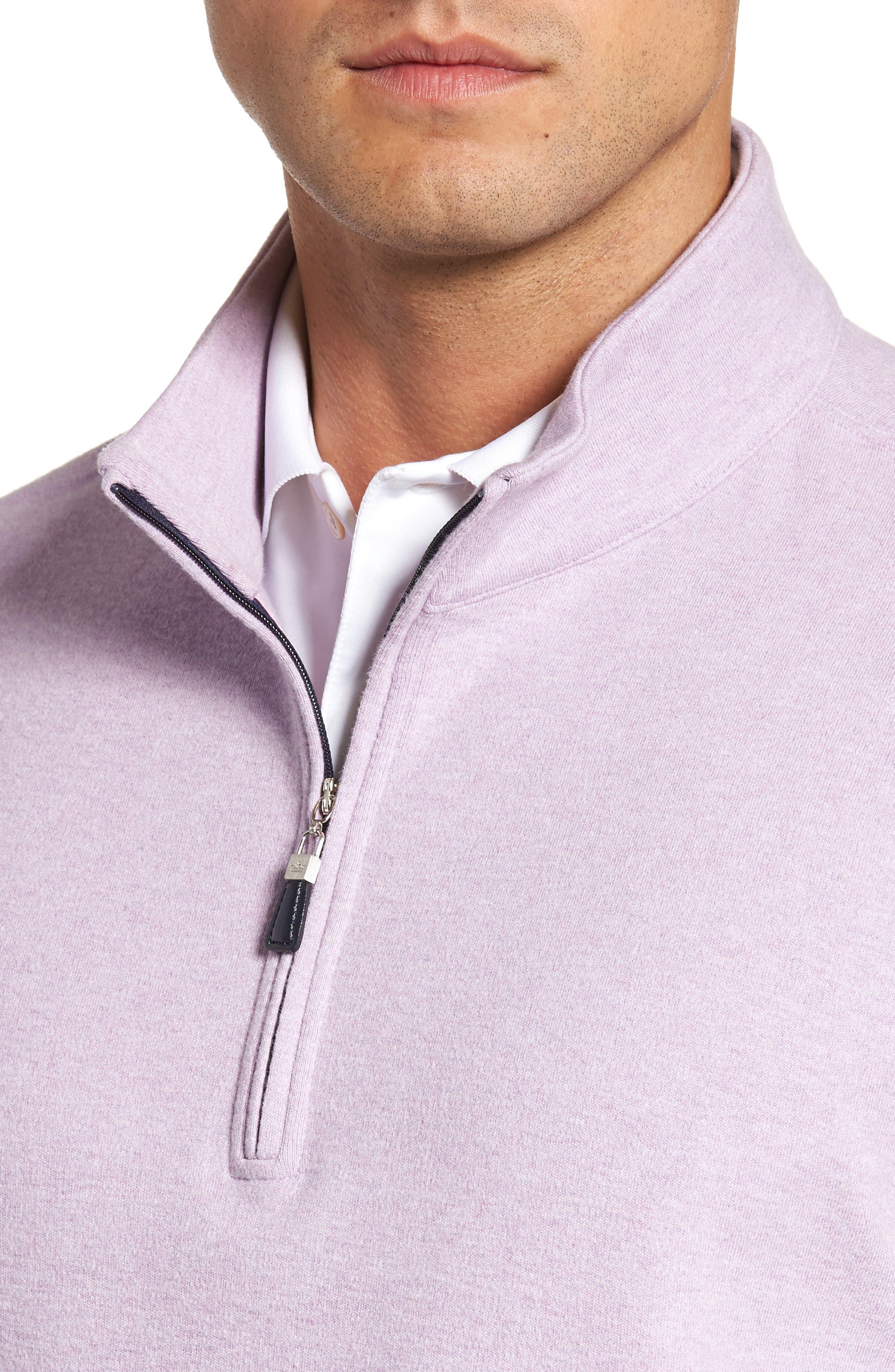 Alternate Image 4  - Peter Millar Mélange Quarter Zip Pullover