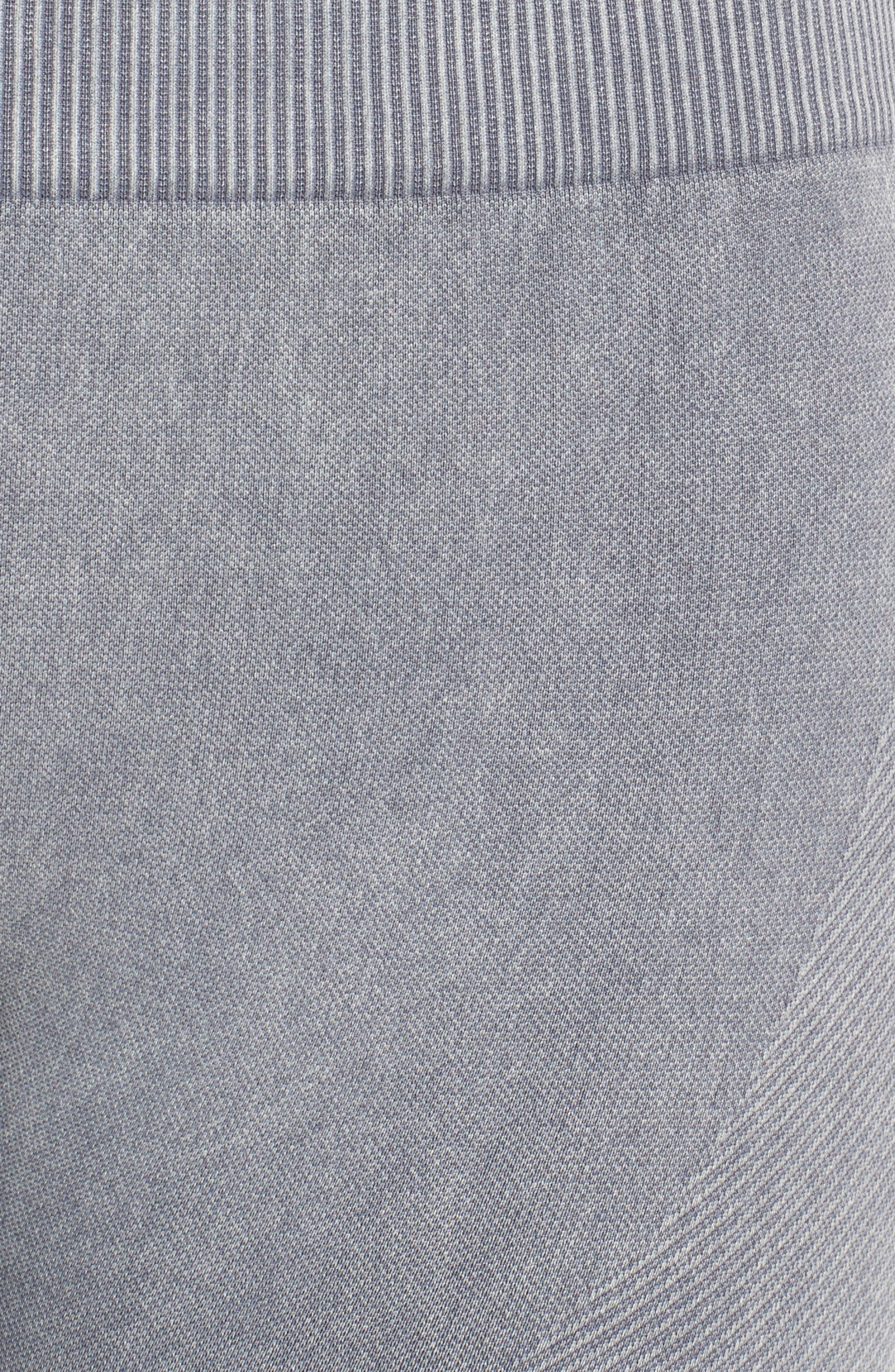 Seamless Crop Leggings,                             Alternate thumbnail 6, color,                             Slate Grey