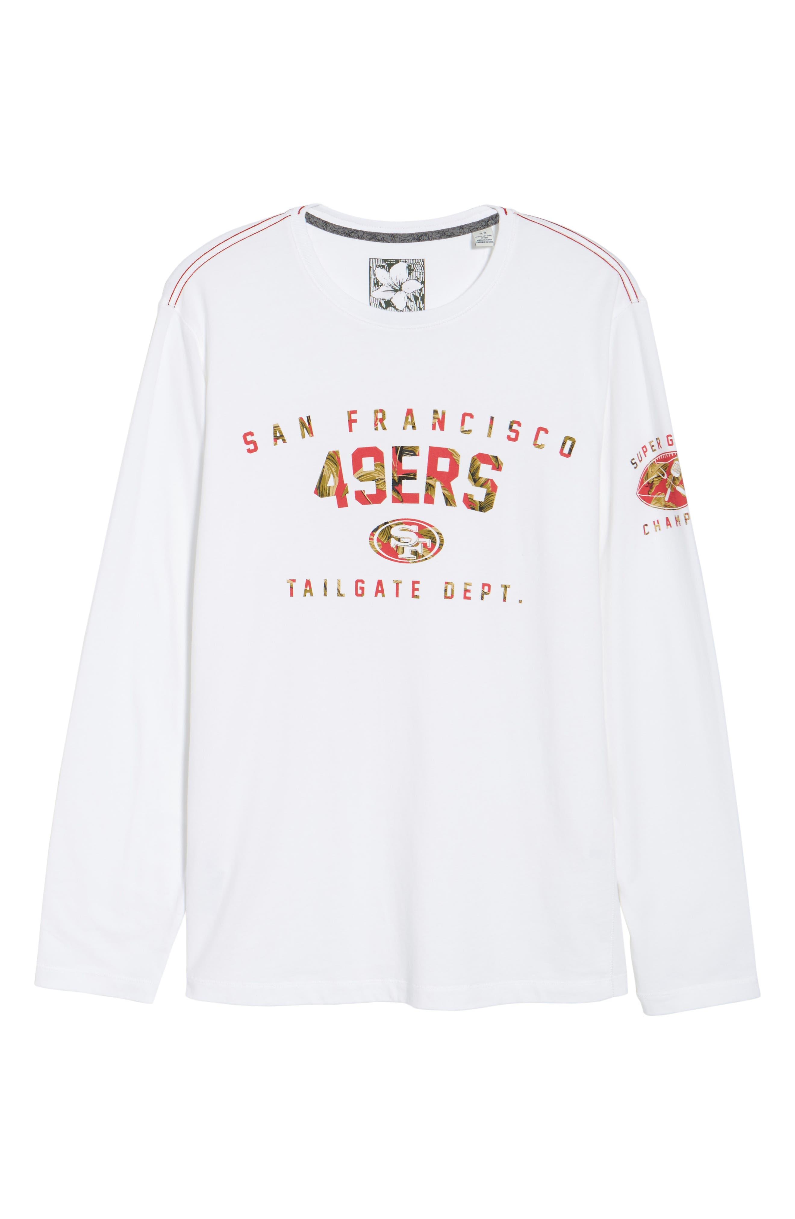 NFL Palm Action T-Shirt,                             Alternate thumbnail 6, color,                             49Ers