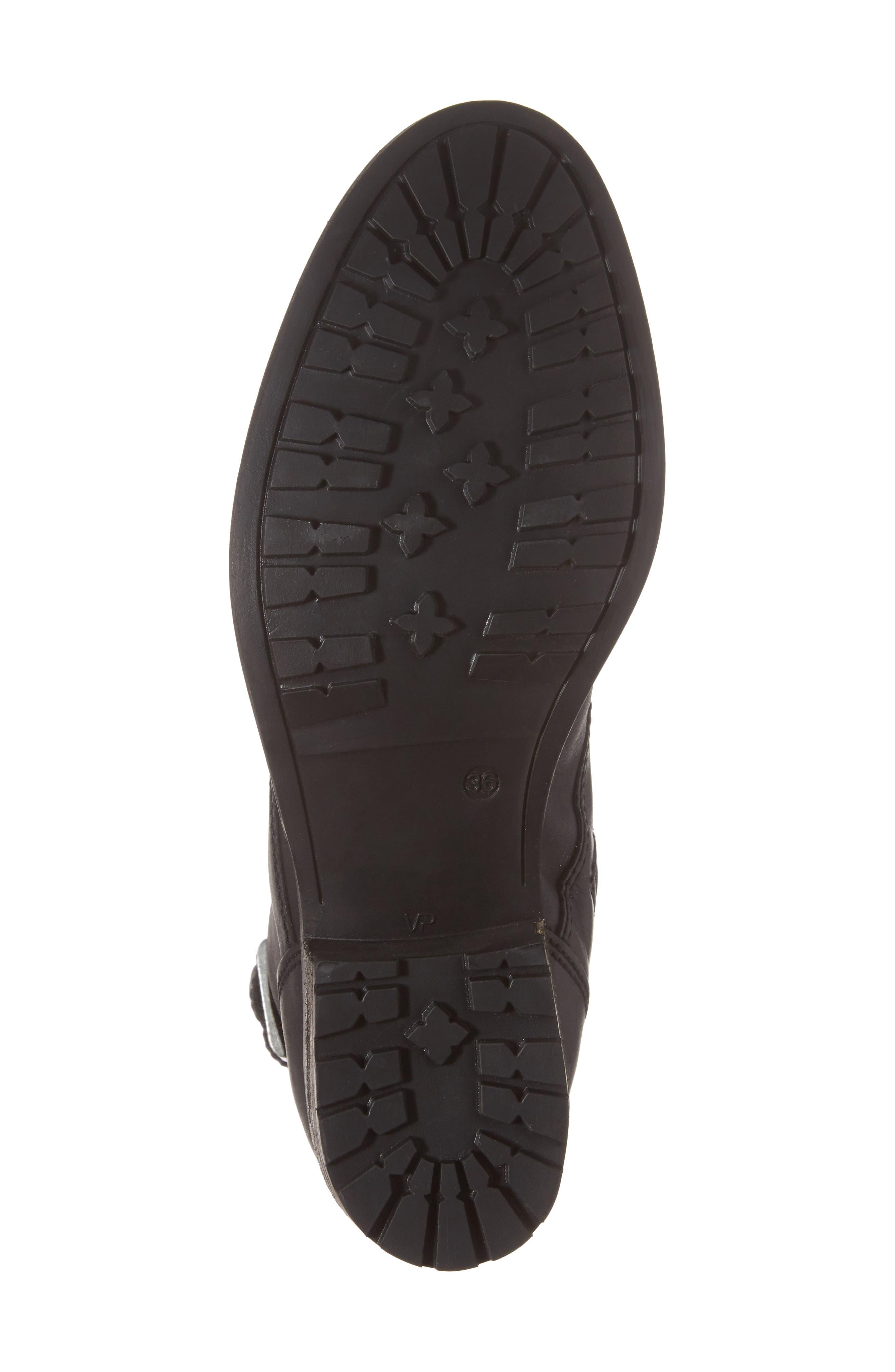 Lune Waterproof Moto Boot,                             Alternate thumbnail 6, color,                             Black Varese Leather