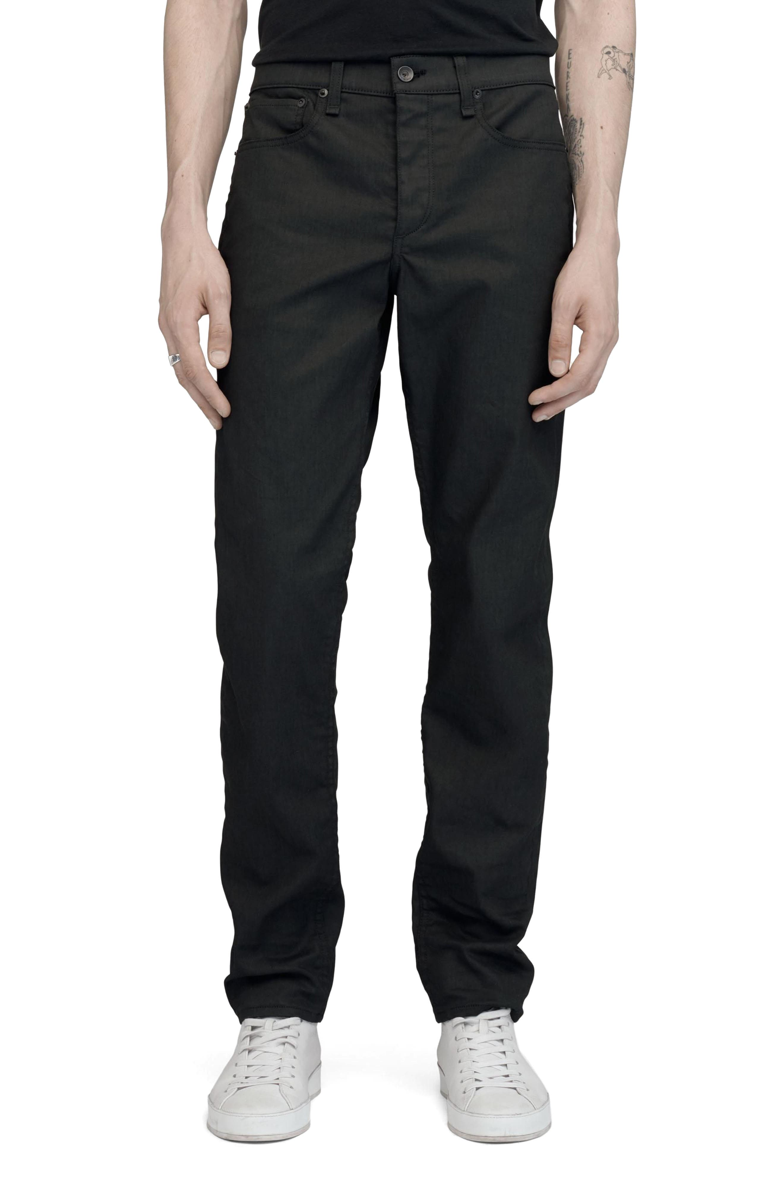 Alternate Image 1 Selected - rag & bone Fit 2 Slim Fit Jeans (Coated Black)