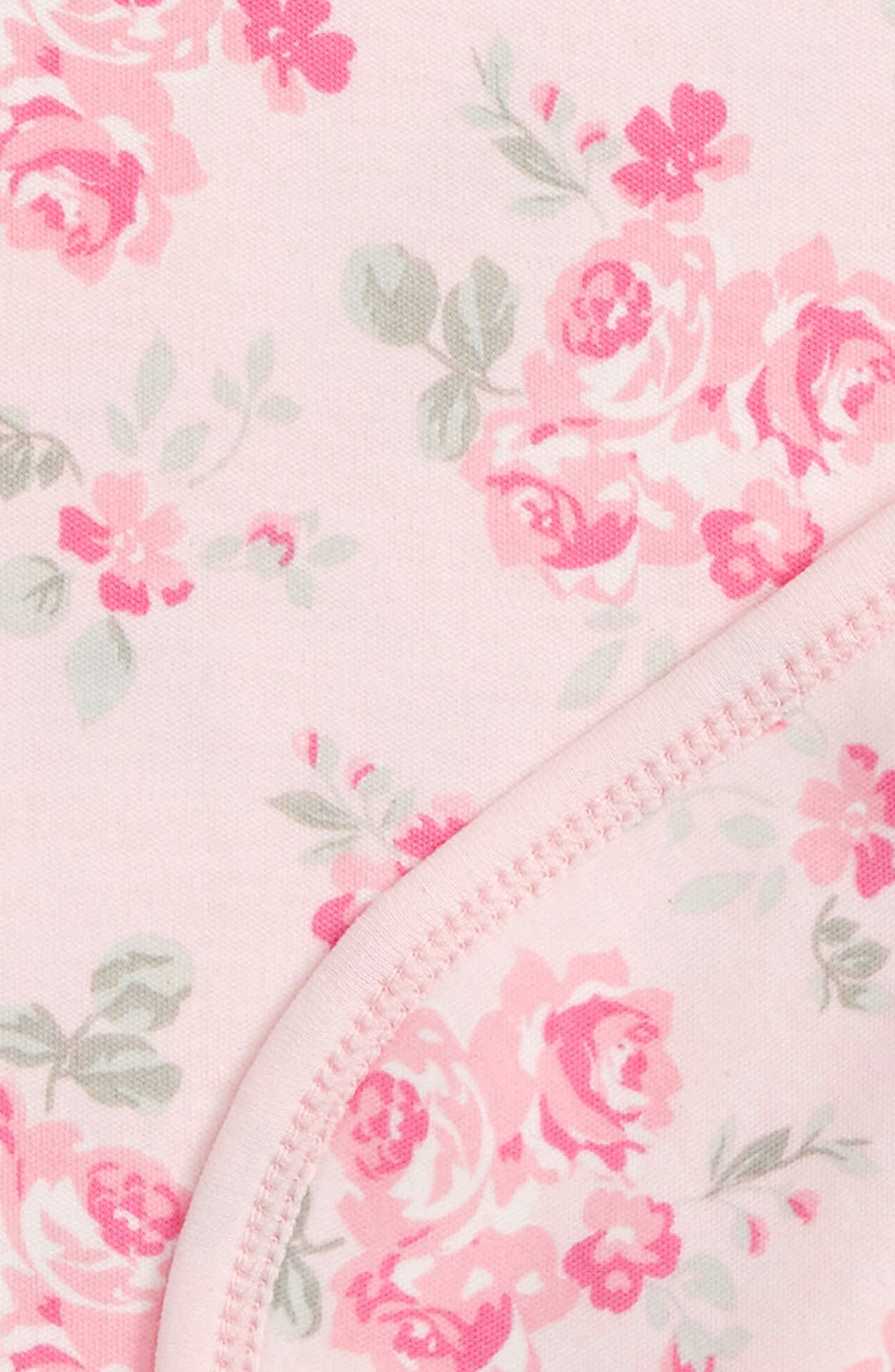 Alternate Image 2  - Little Me Pink Rose Receiving Blanket (Nordstrom Exclusive)