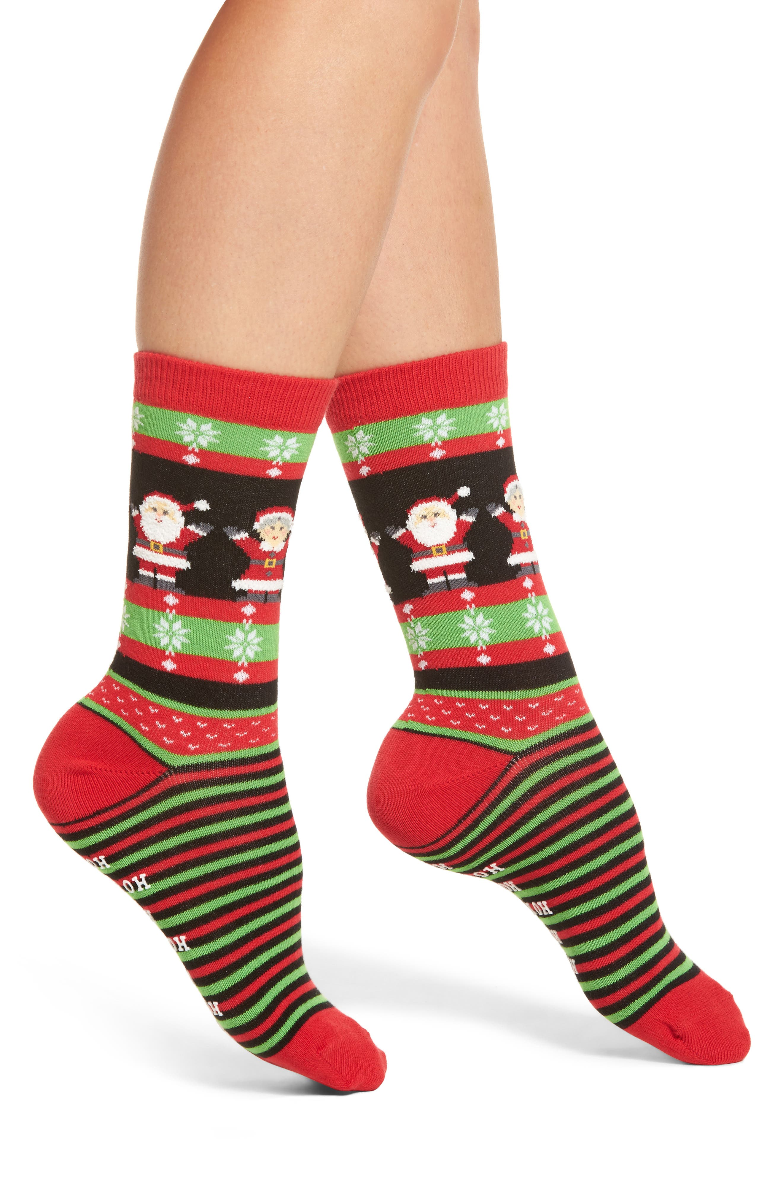 Hot Sox Mr. & Mrs. Claus Nonskid Socks (3 for $15)