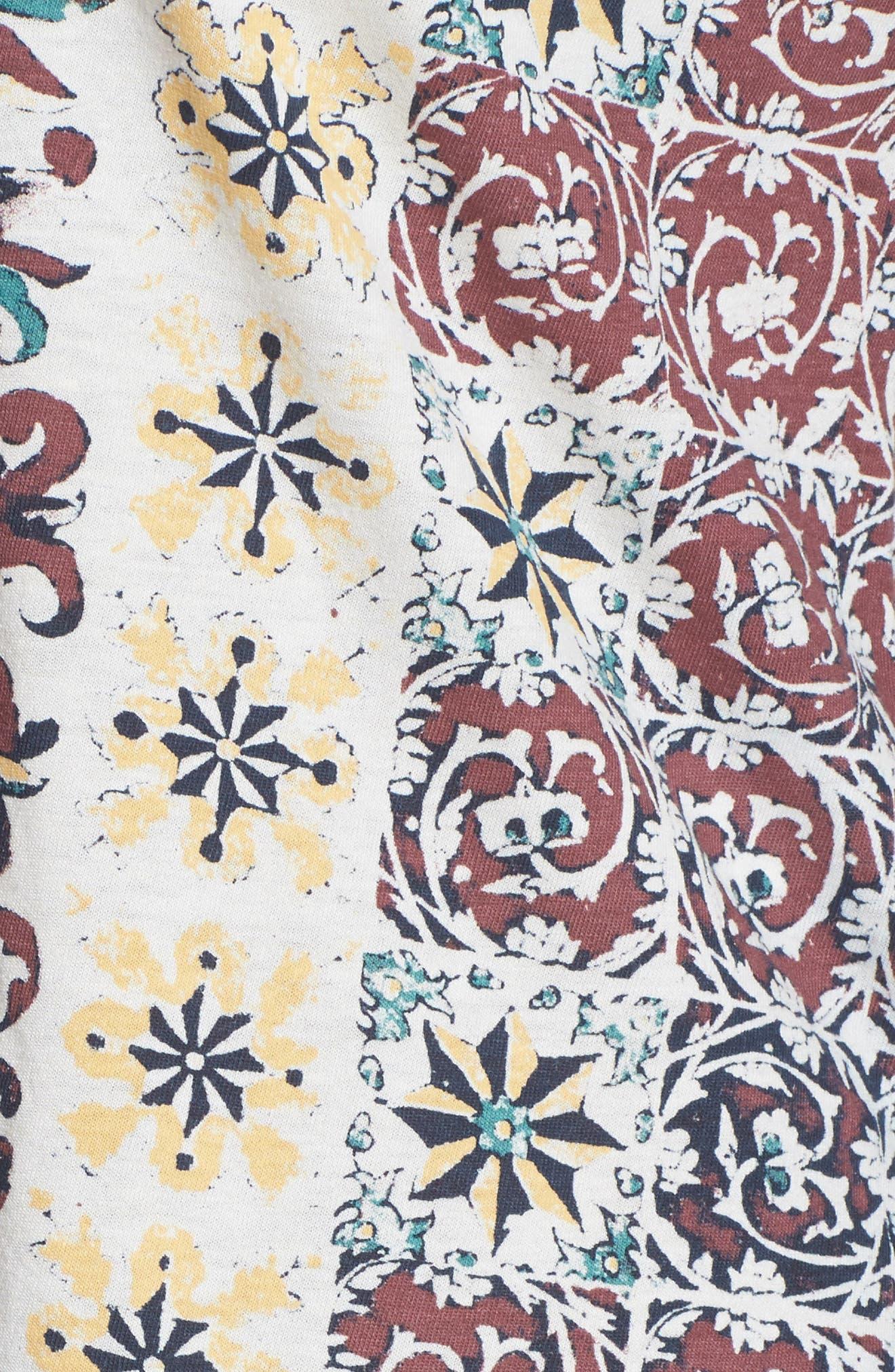 Alternate Image 5  - Lucky Brand Moroccan Tile Print Tee