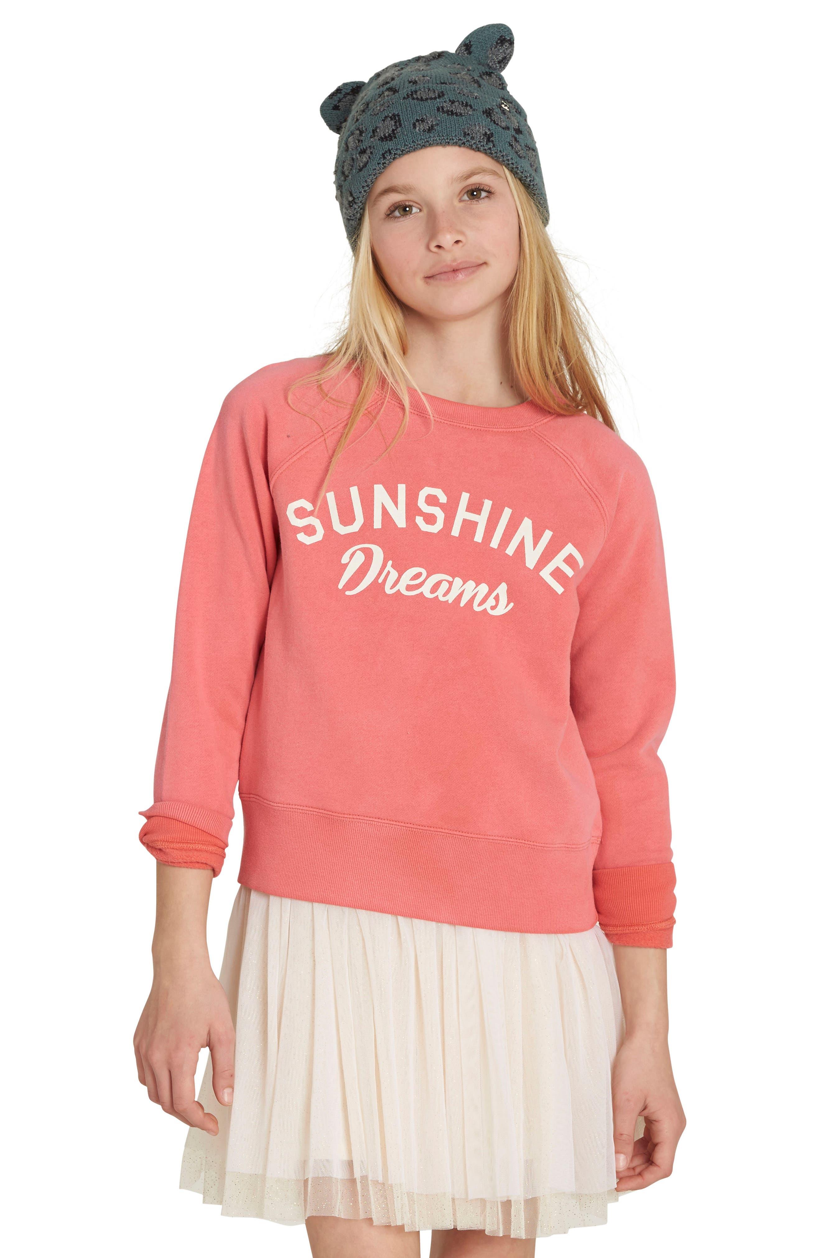 Billabong Whole Heart Graphic Sweatshirt (Little Girls & Big Girls)