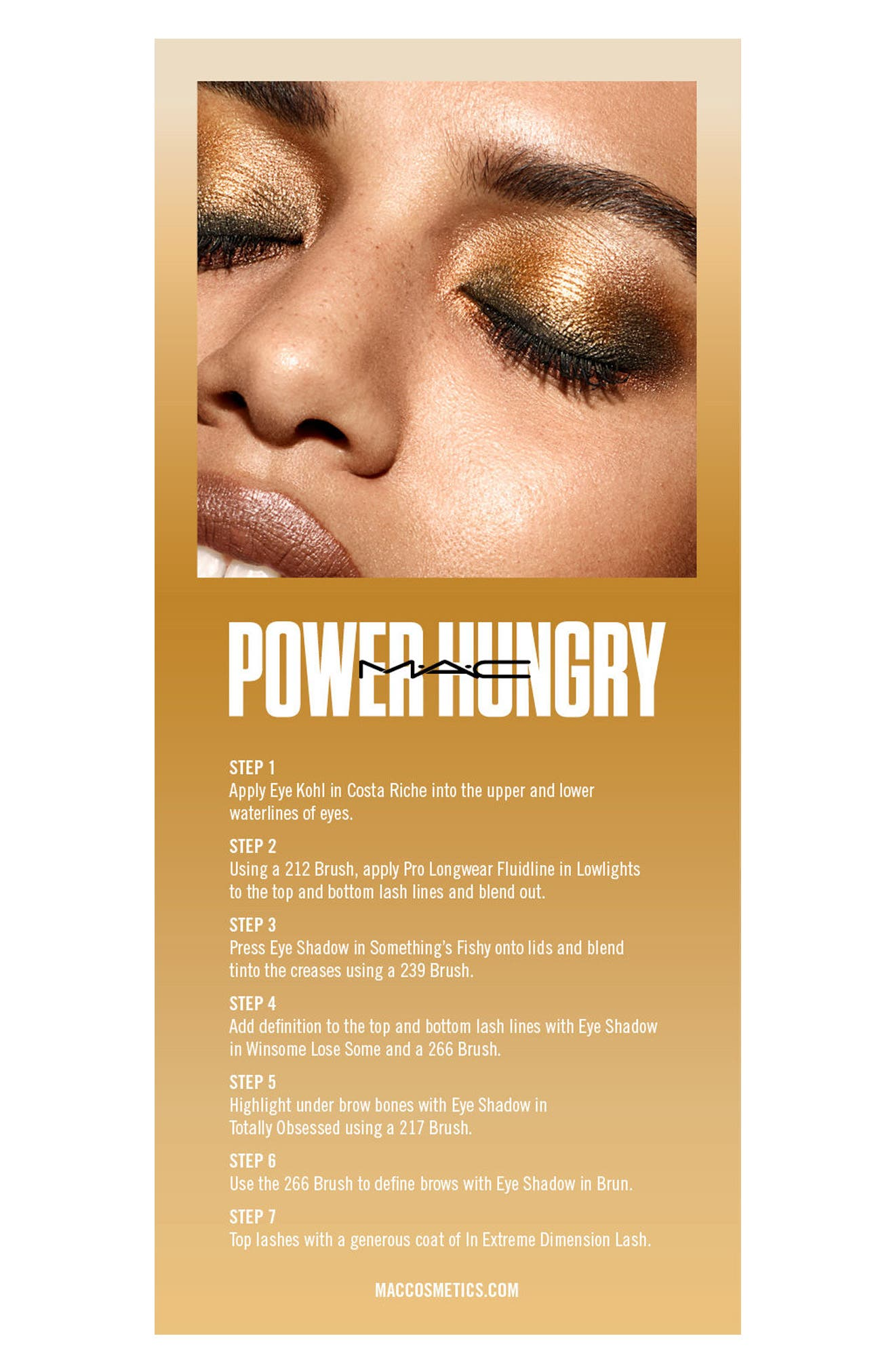 MAC Girls Power Hungry Palette,                             Alternate thumbnail 5, color,                             Power Hungry