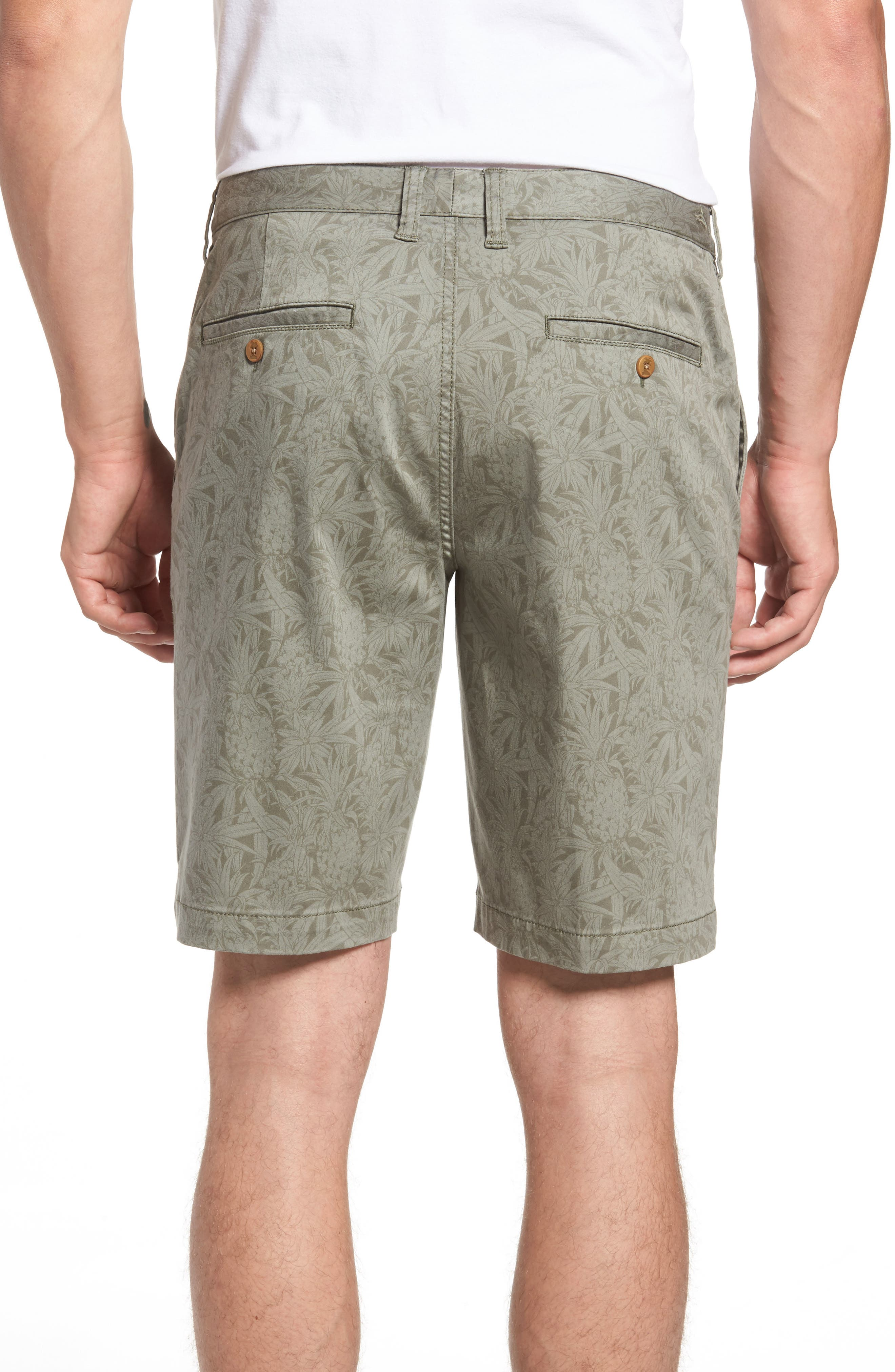 Camo Tropic Standard Fit Chino Shorts,                             Alternate thumbnail 2, color,                             Dusty Olive