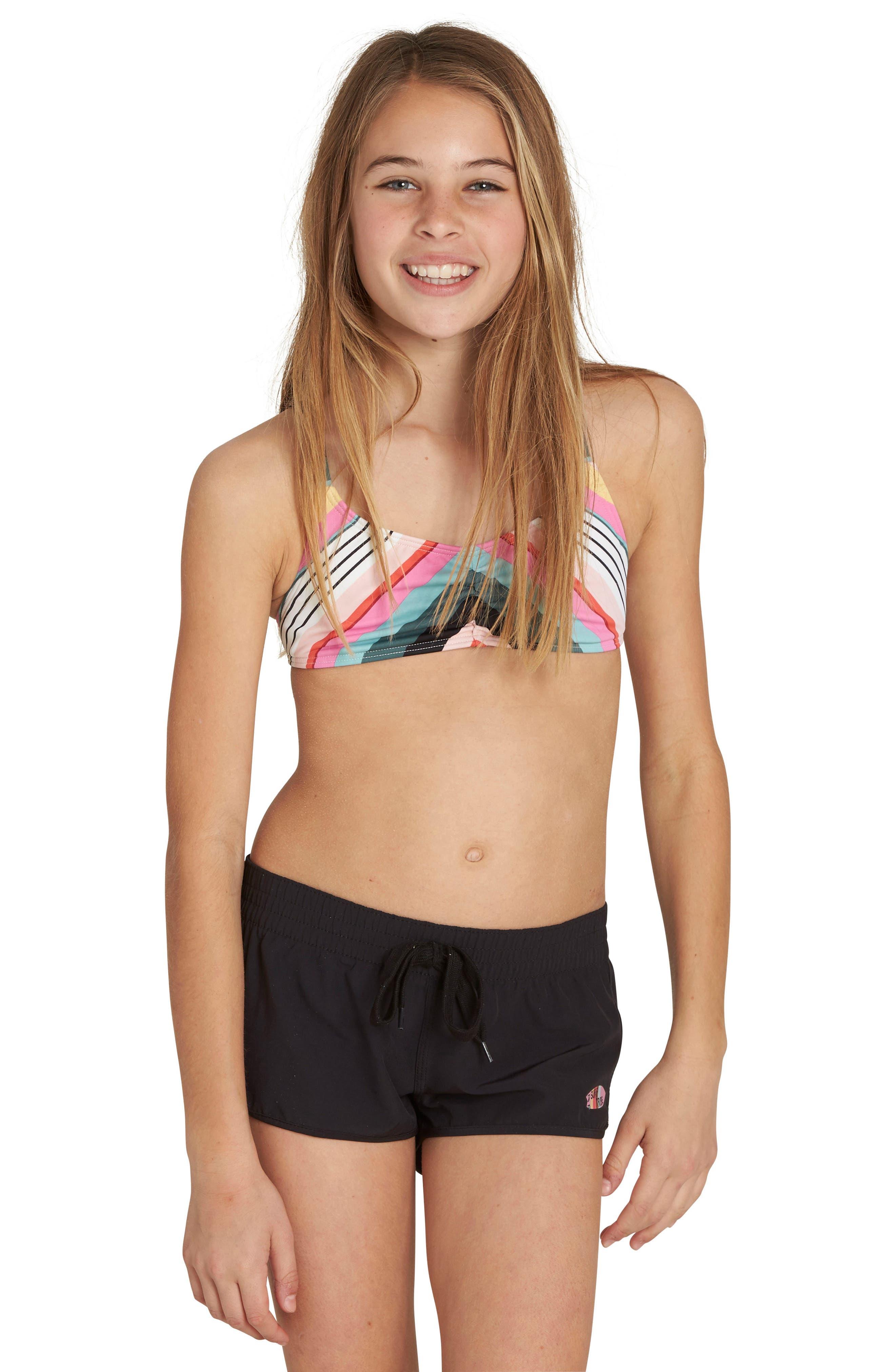 Billabong Sun Faded Volley Shorts (Little Girls & Big Girls)