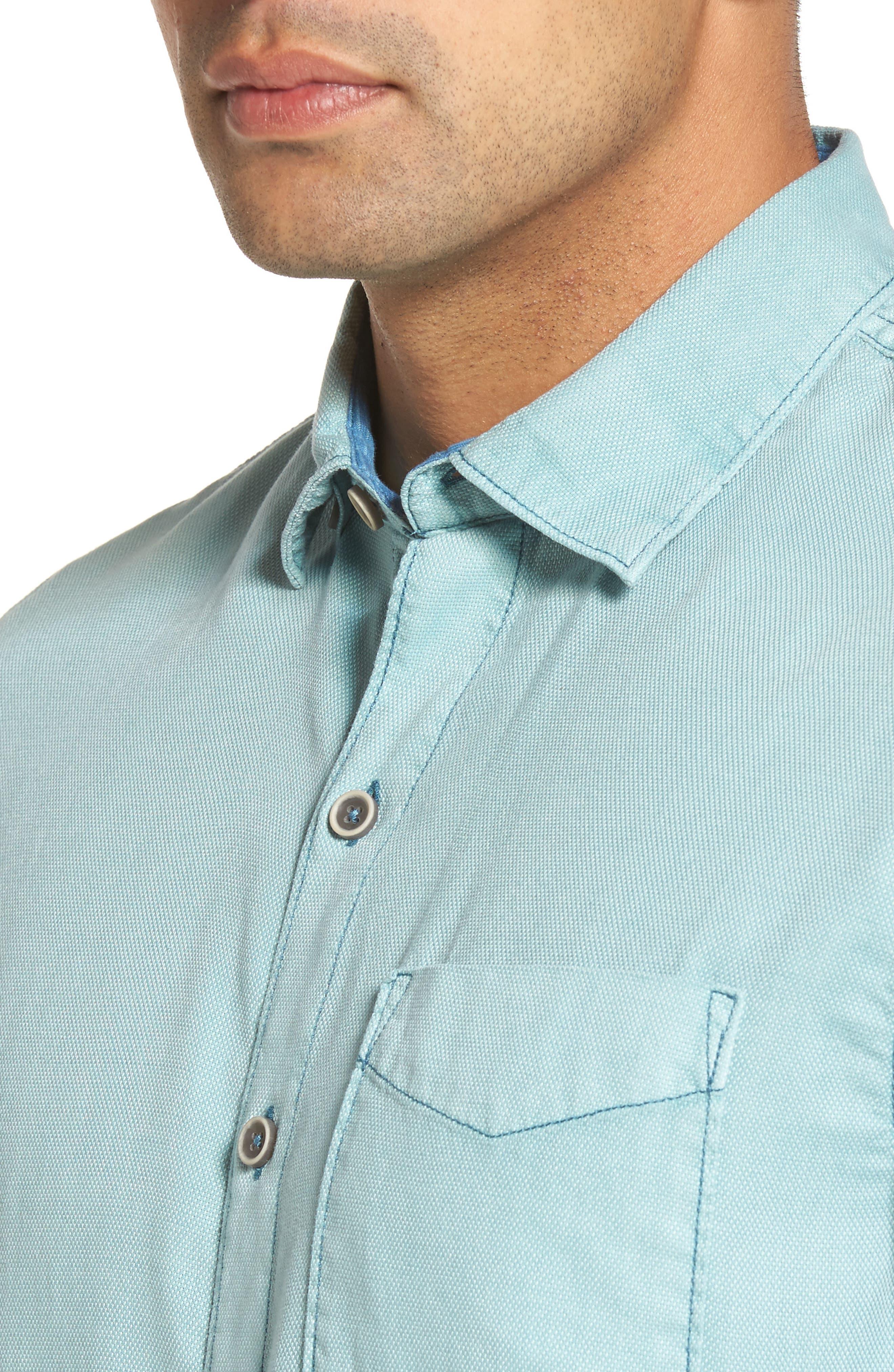 Alternate Image 4  - Tommy Bahama Dobby Dylan Sport Shirt