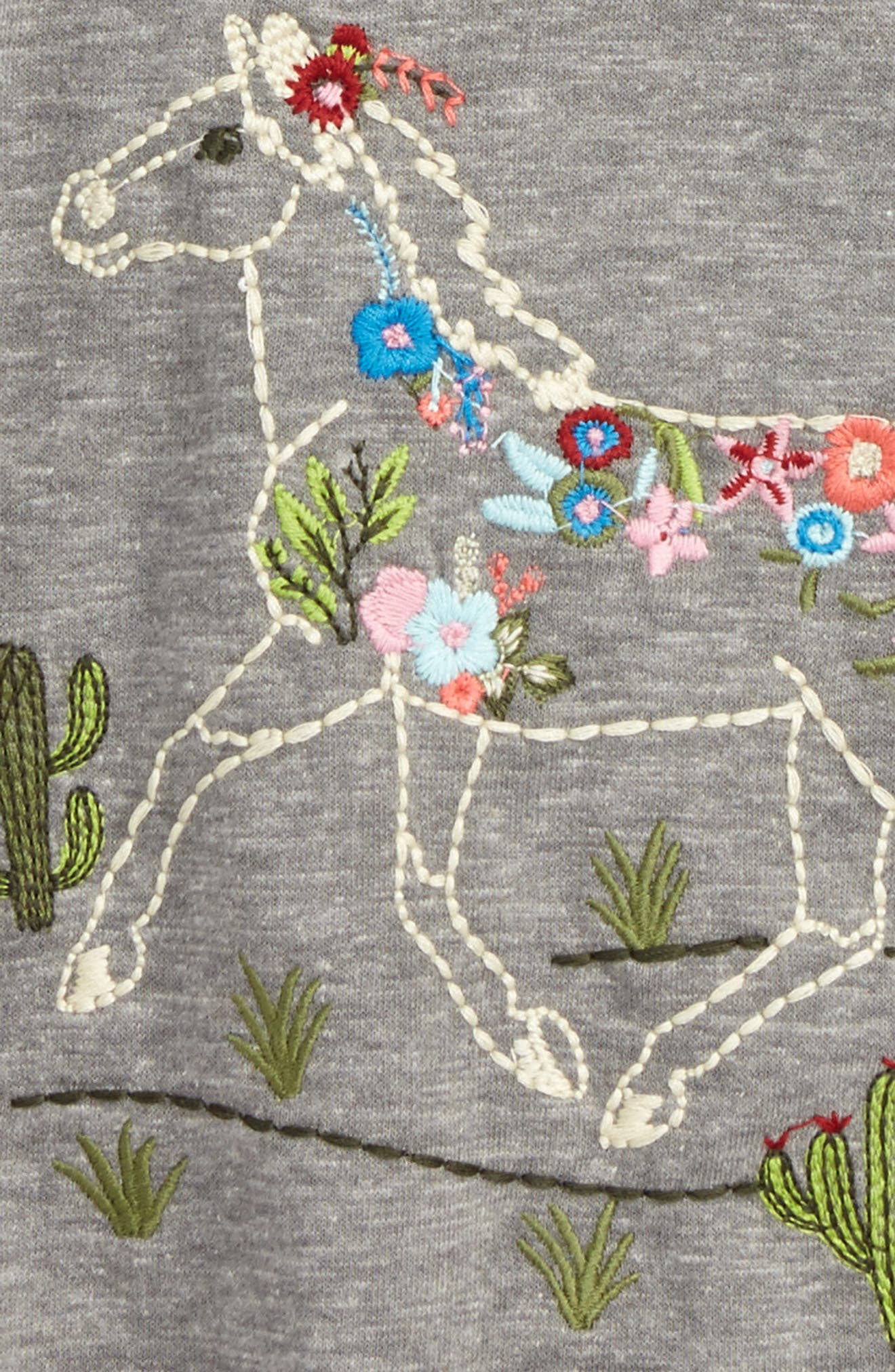 Embroidered Horse Tee,                             Alternate thumbnail 2, color,                             Grey