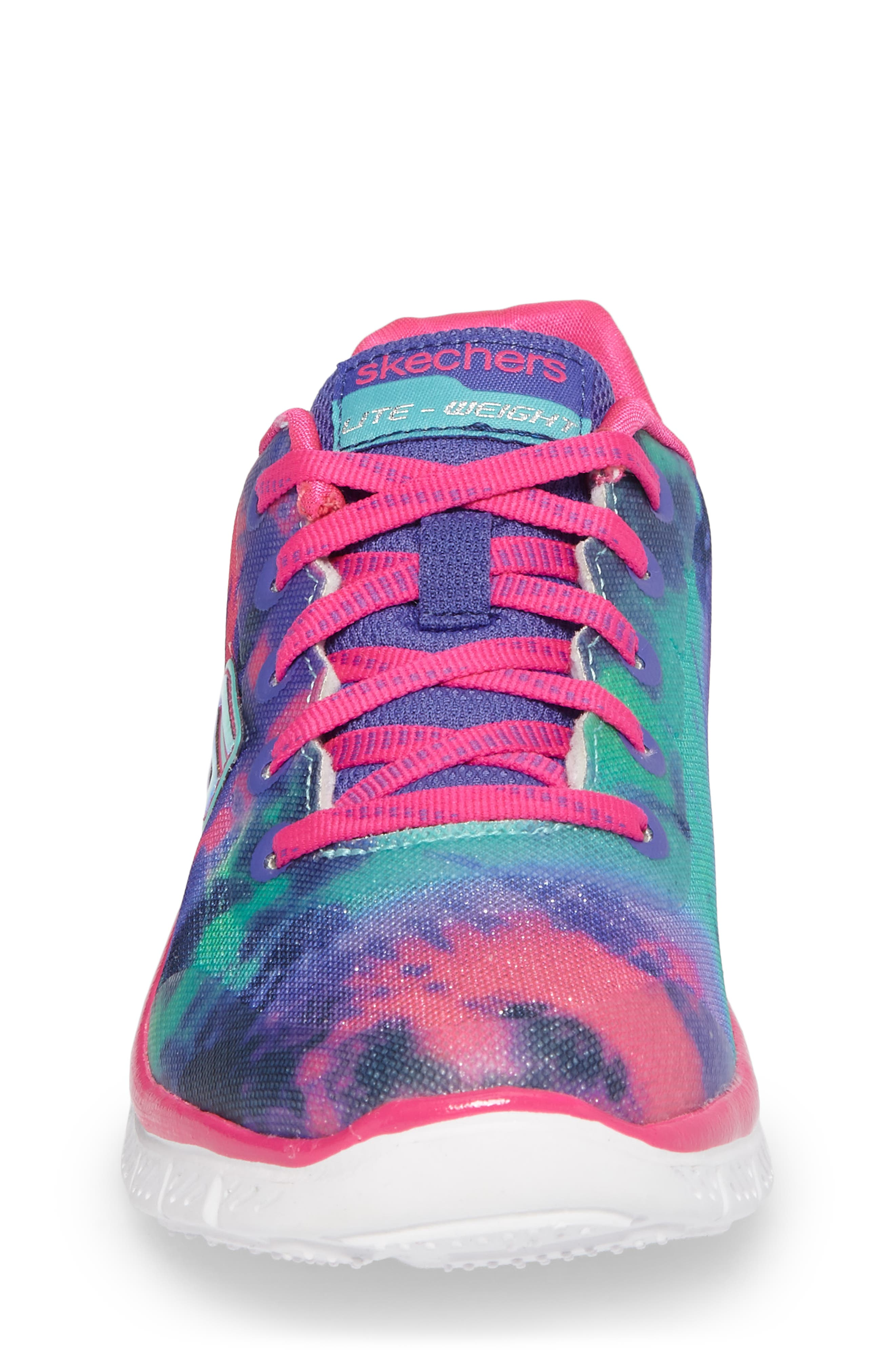 Skech Appeal Groove Thang Sneaker,                             Alternate thumbnail 4, color,                             Neon Pink/ Multi