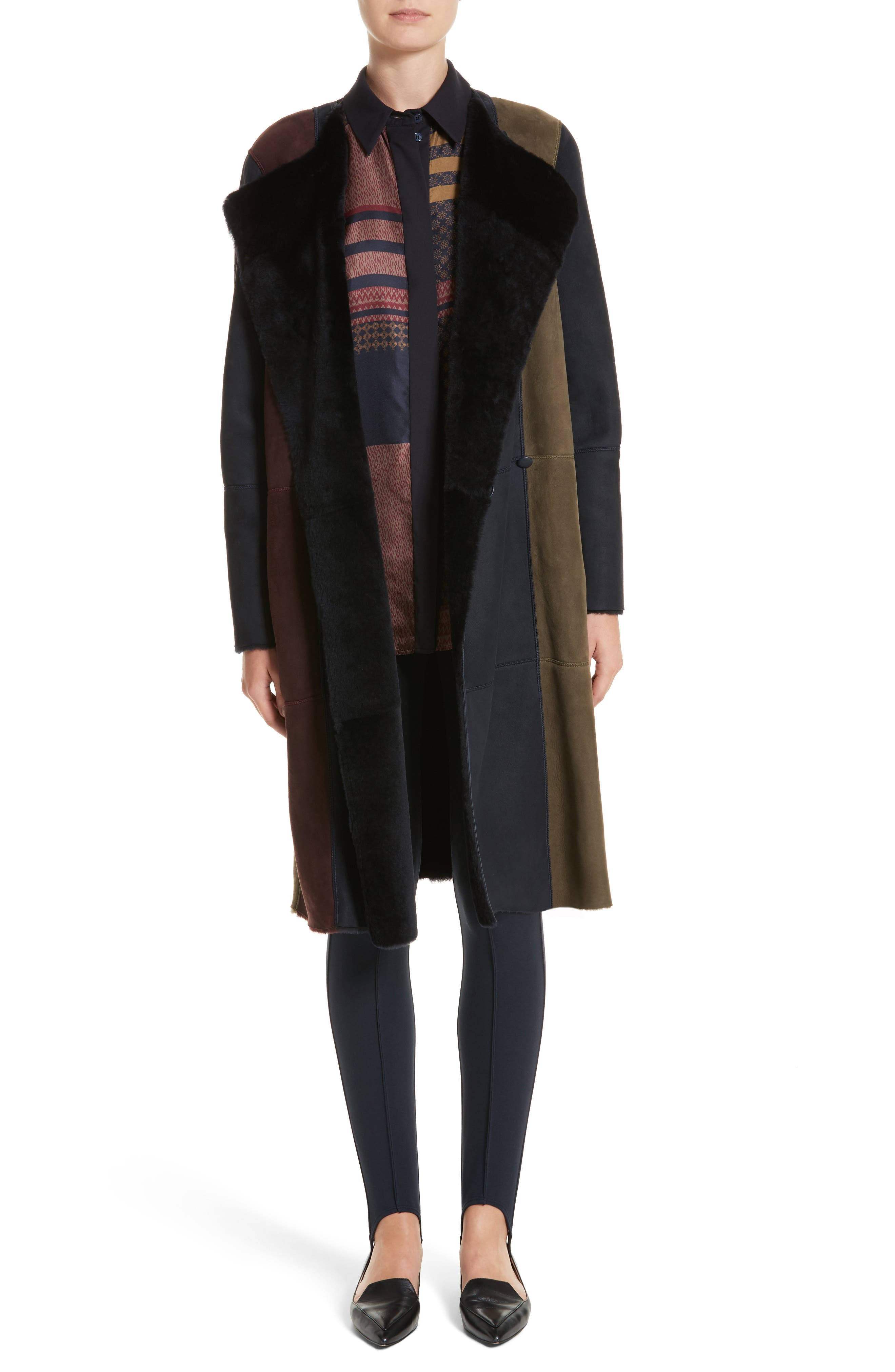 Alternate Image 7  - Lafayette 148 New York Robyn Reversible Genuine Shearling Coat