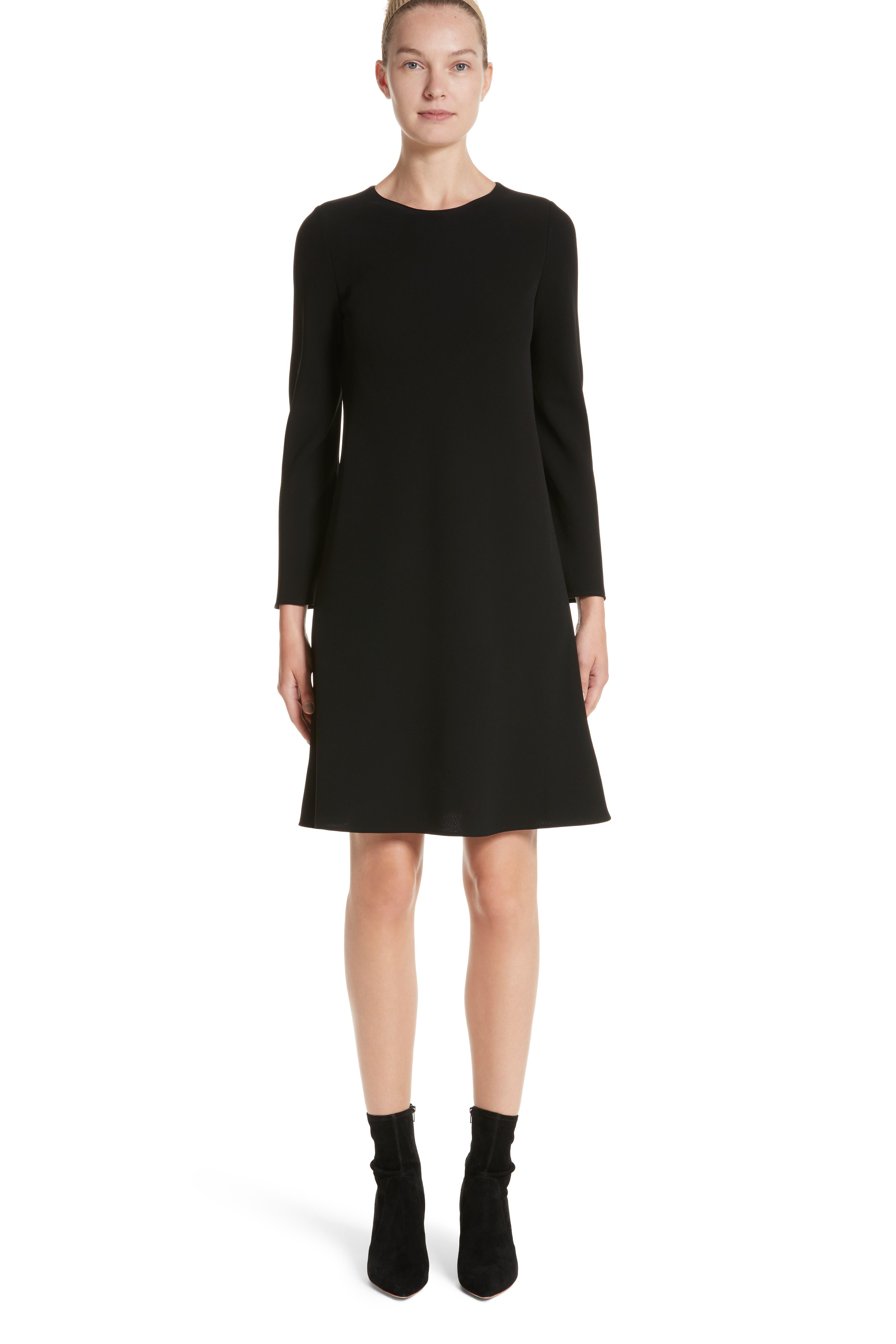 Kalitta Finesse Crepe Dress,                             Main thumbnail 1, color,                             Black