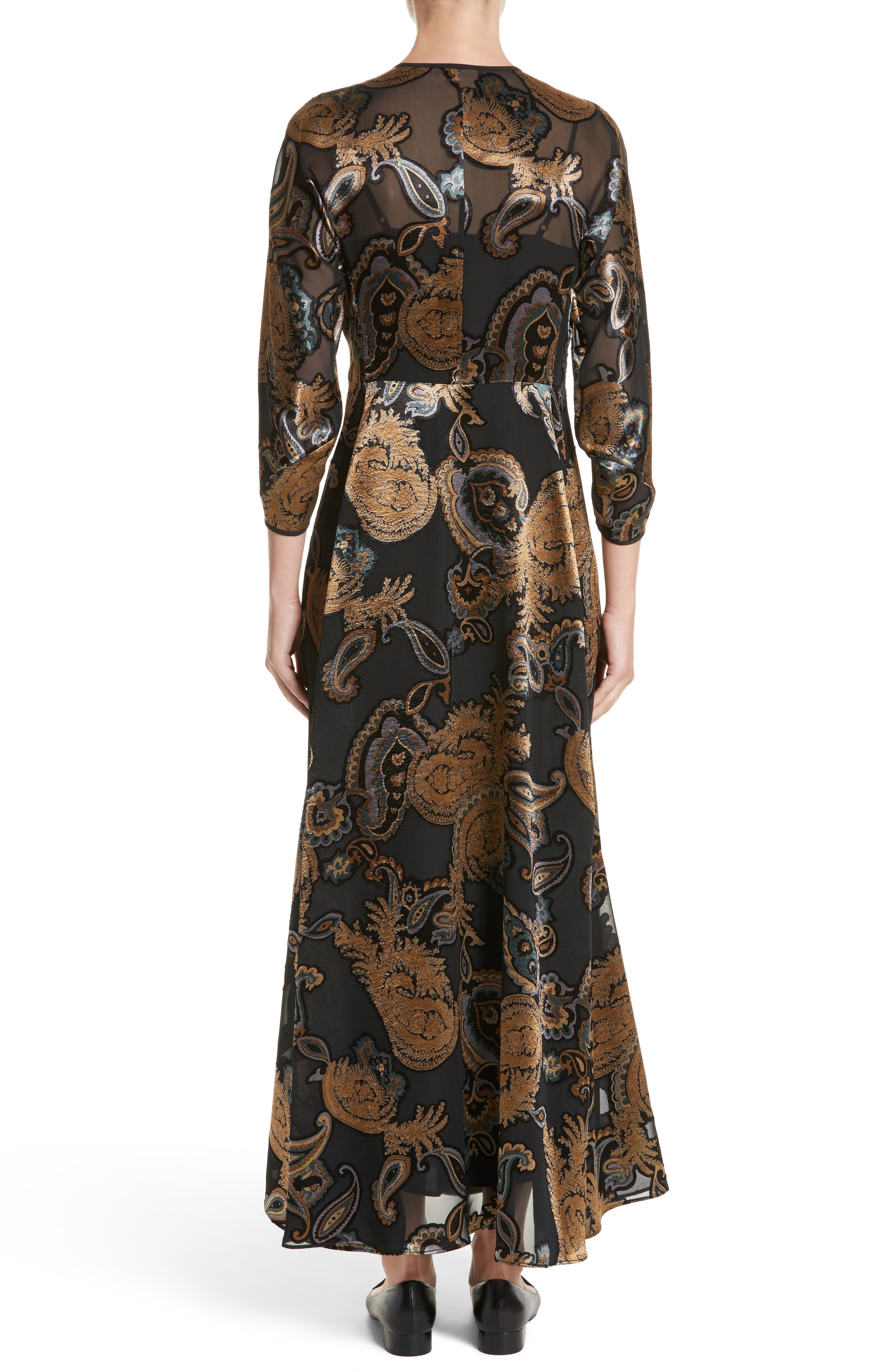 Alternate Image 2  - Lafayette 148 New York Cadenza Renaissance Paisley Devoré Dress