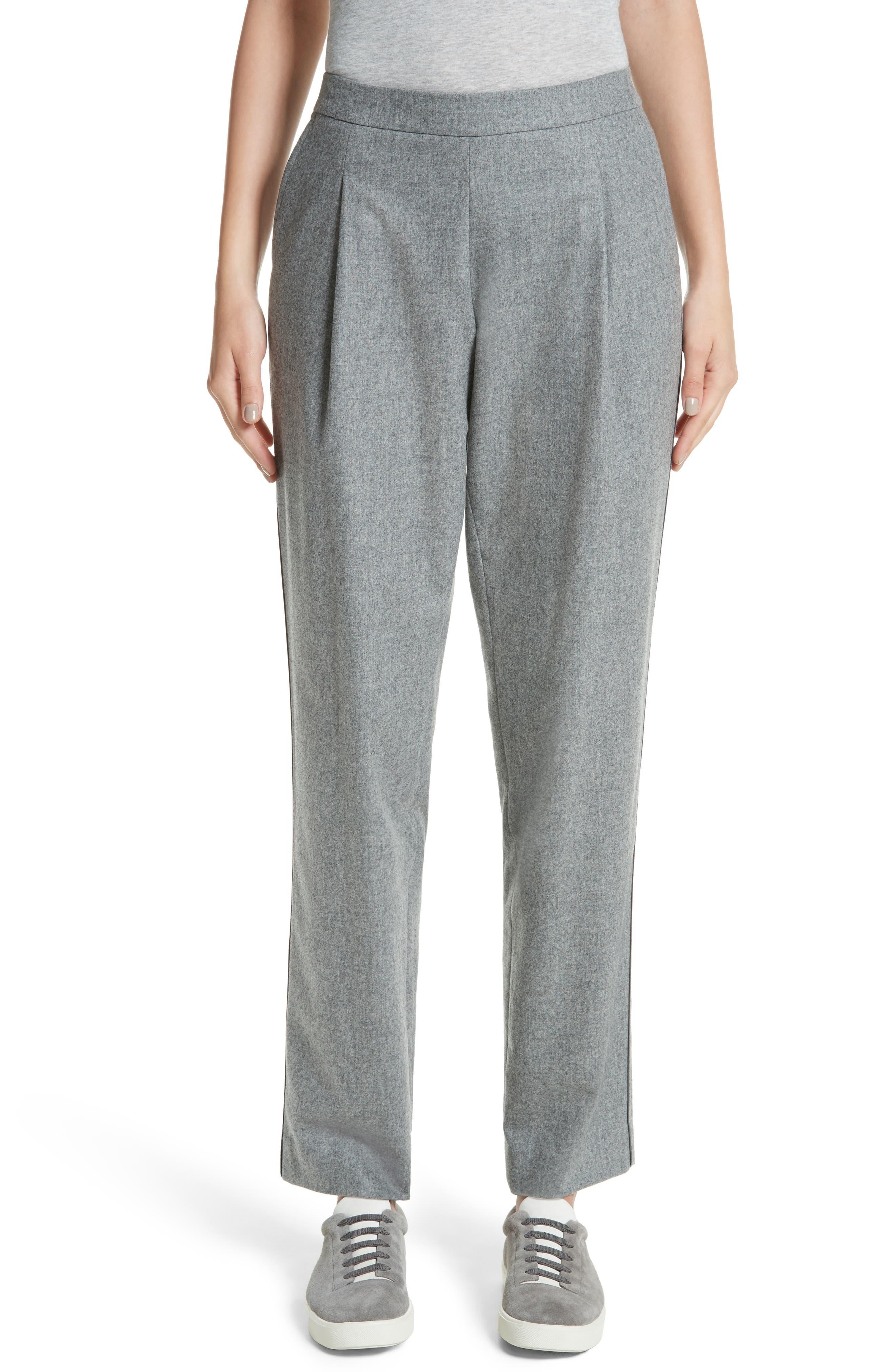 Main Image - Lafayette 148 New York Finite Flannel Soho Track Pants