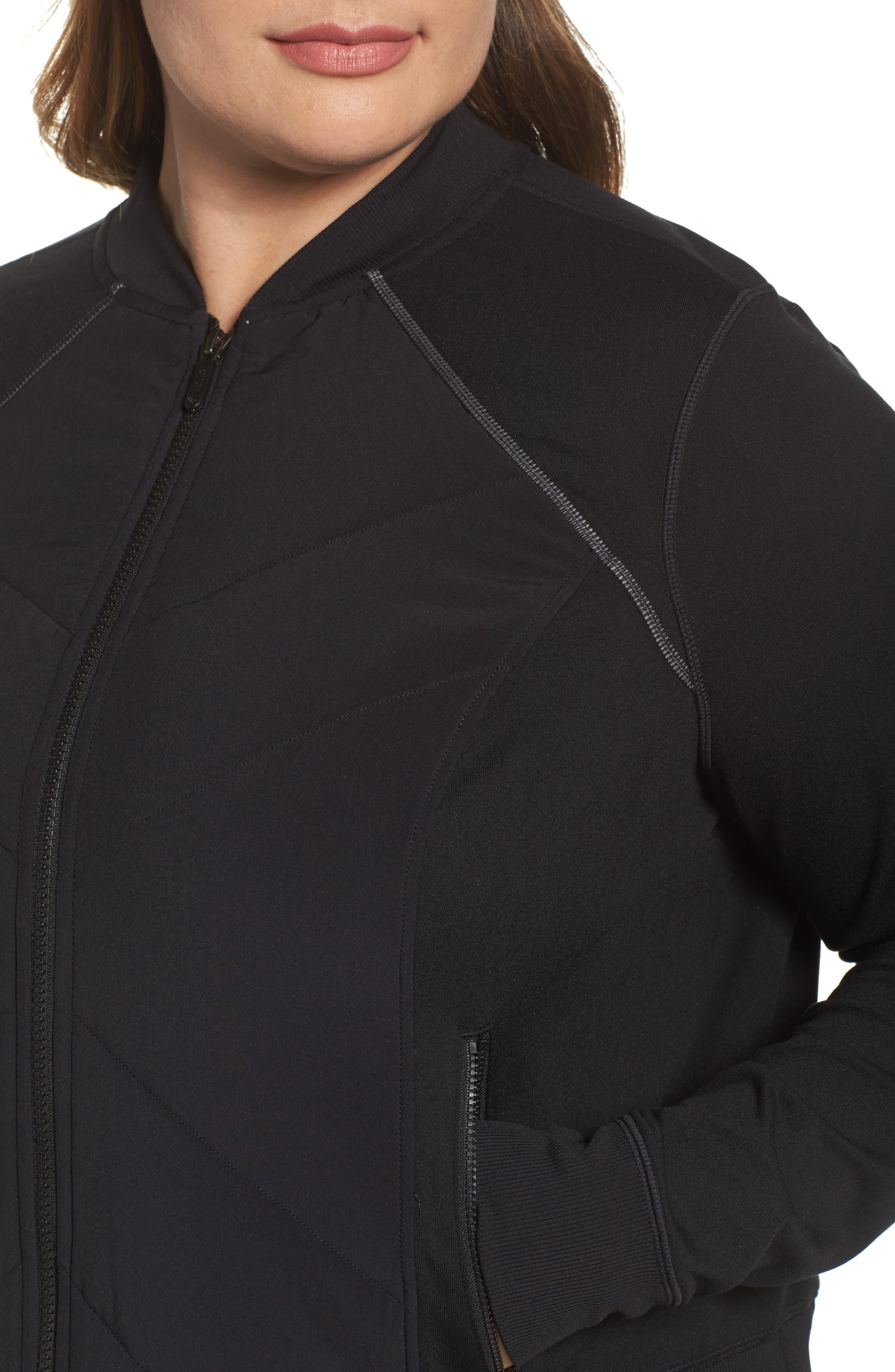 Wear It Out Bomber Jacket,                             Alternate thumbnail 3, color,                             Black