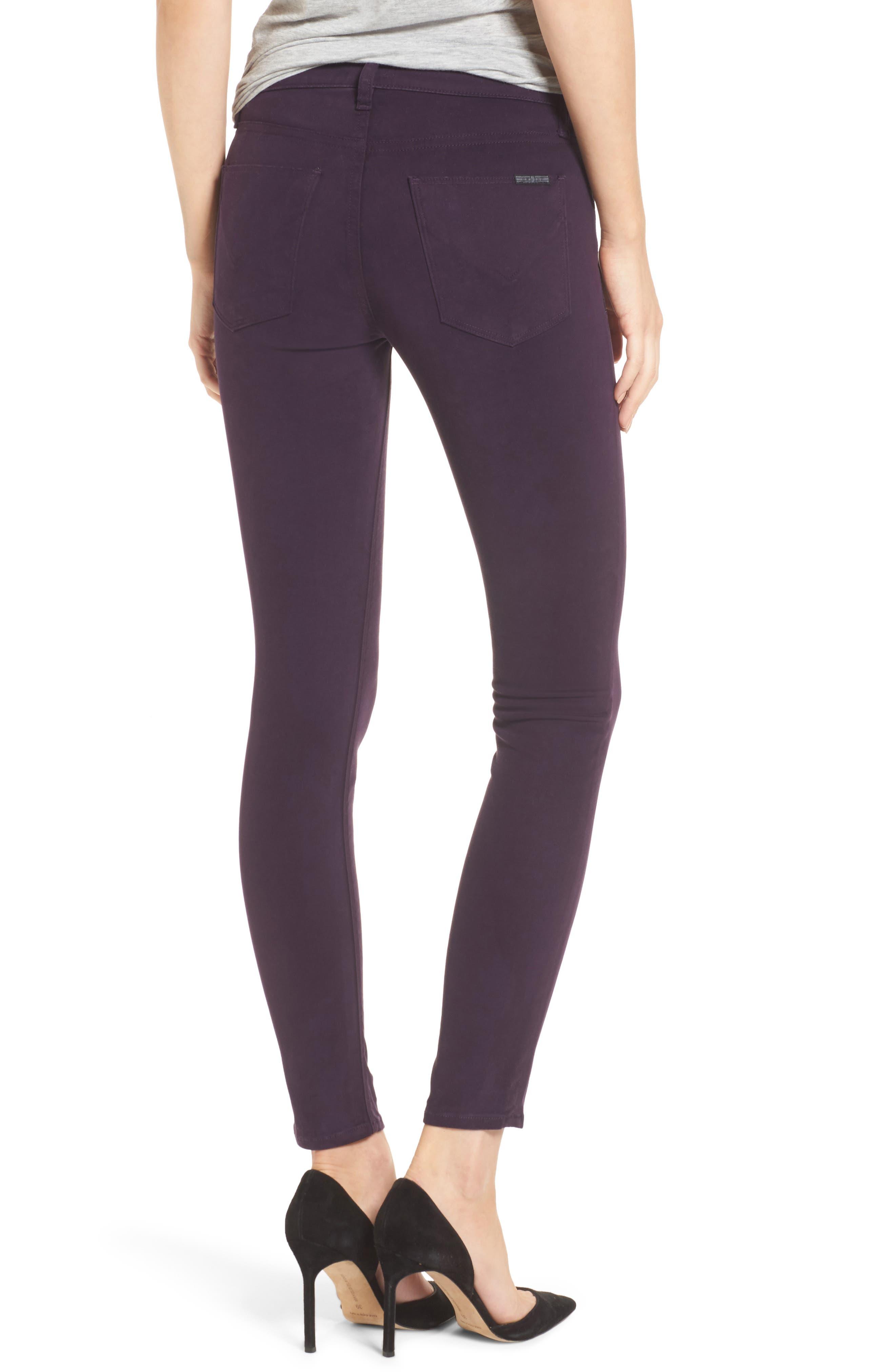 Nico Ankle Skinny Pants,                             Alternate thumbnail 2, color,                             Velvet Plum