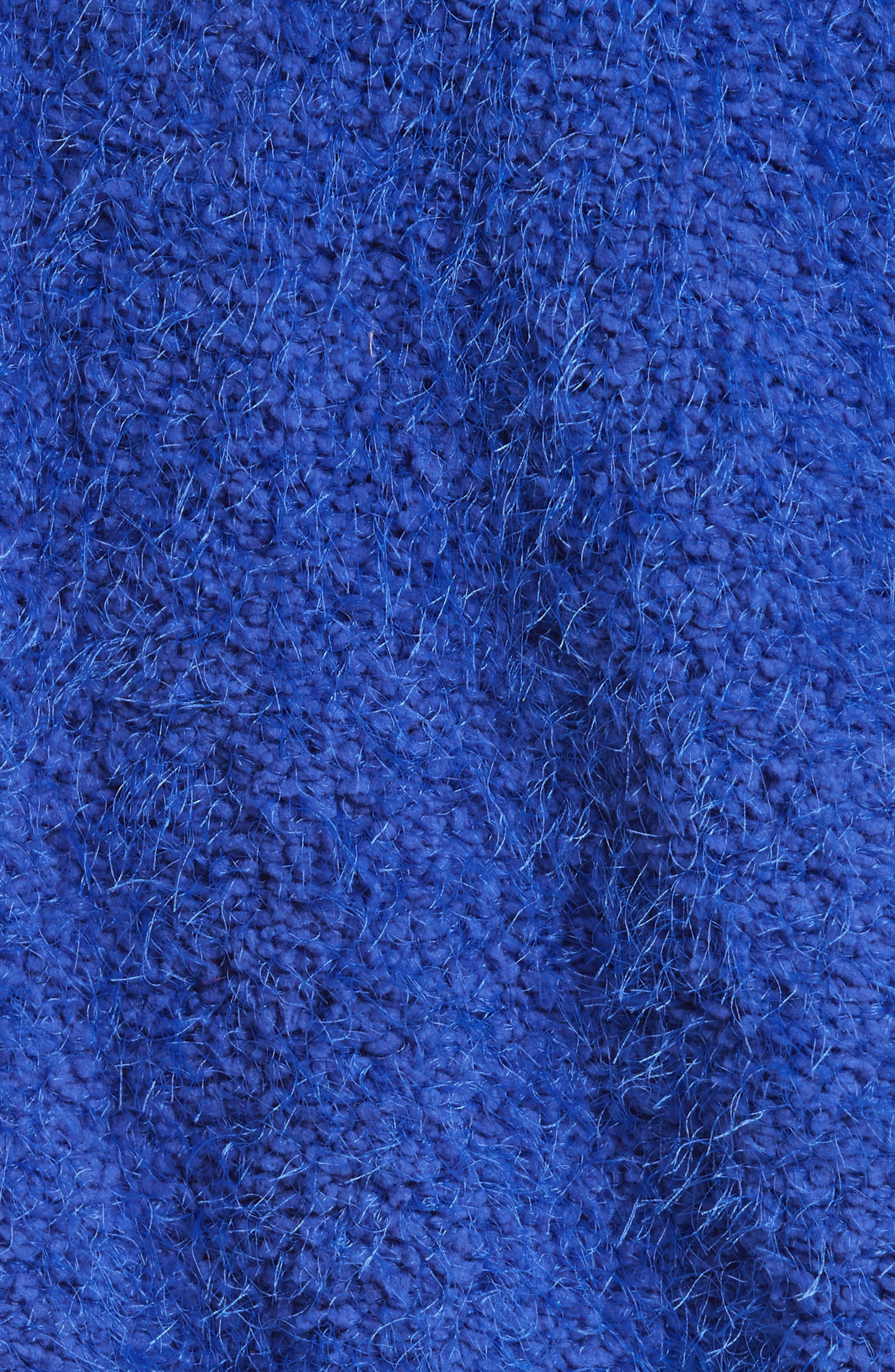 Furry Time Hooded Jacket,                             Alternate thumbnail 5, color,                             Blue