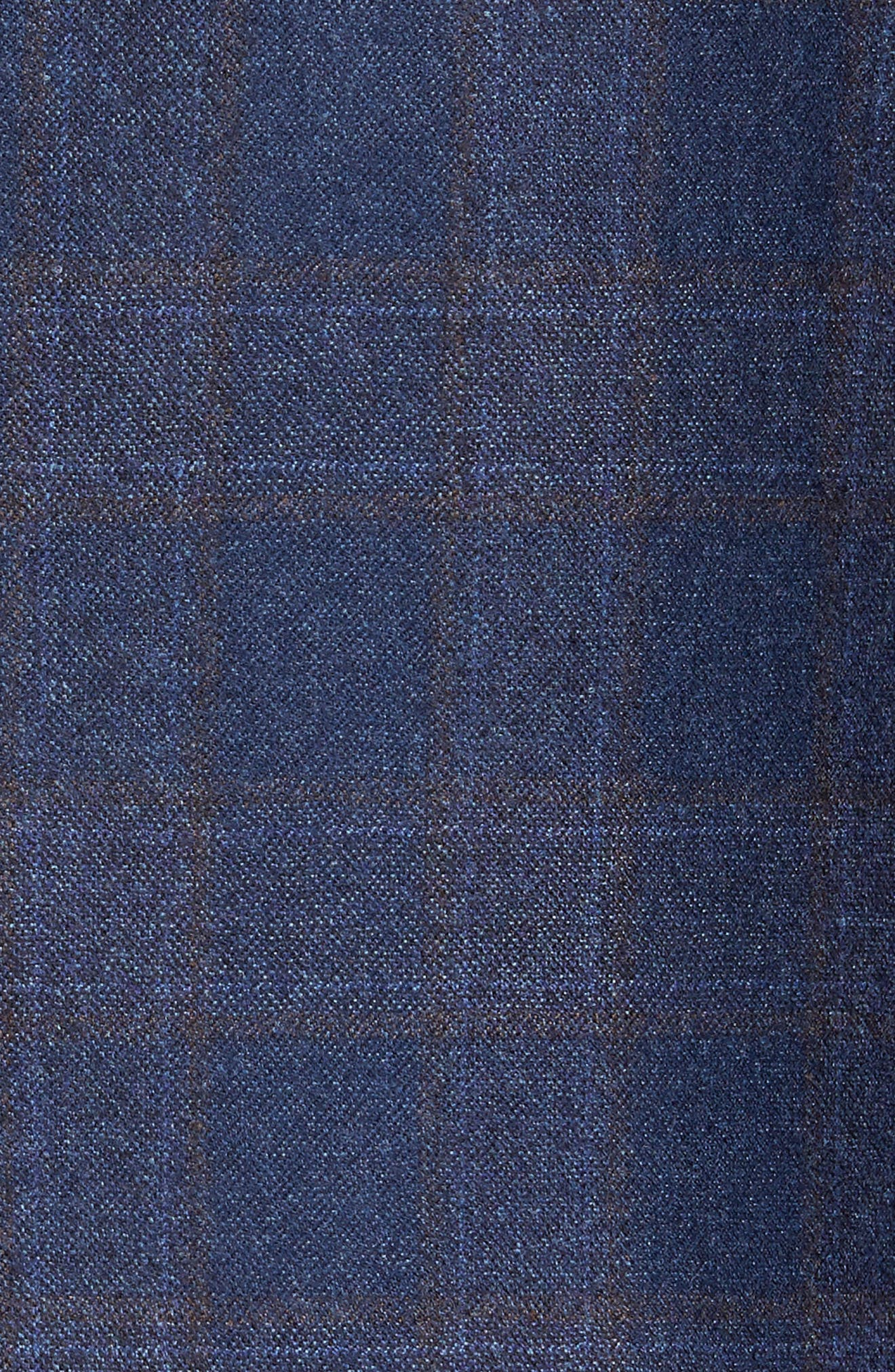 Flynn Classic Fit Plaid Wool Sport Coat,                             Alternate thumbnail 5, color,                             Blue