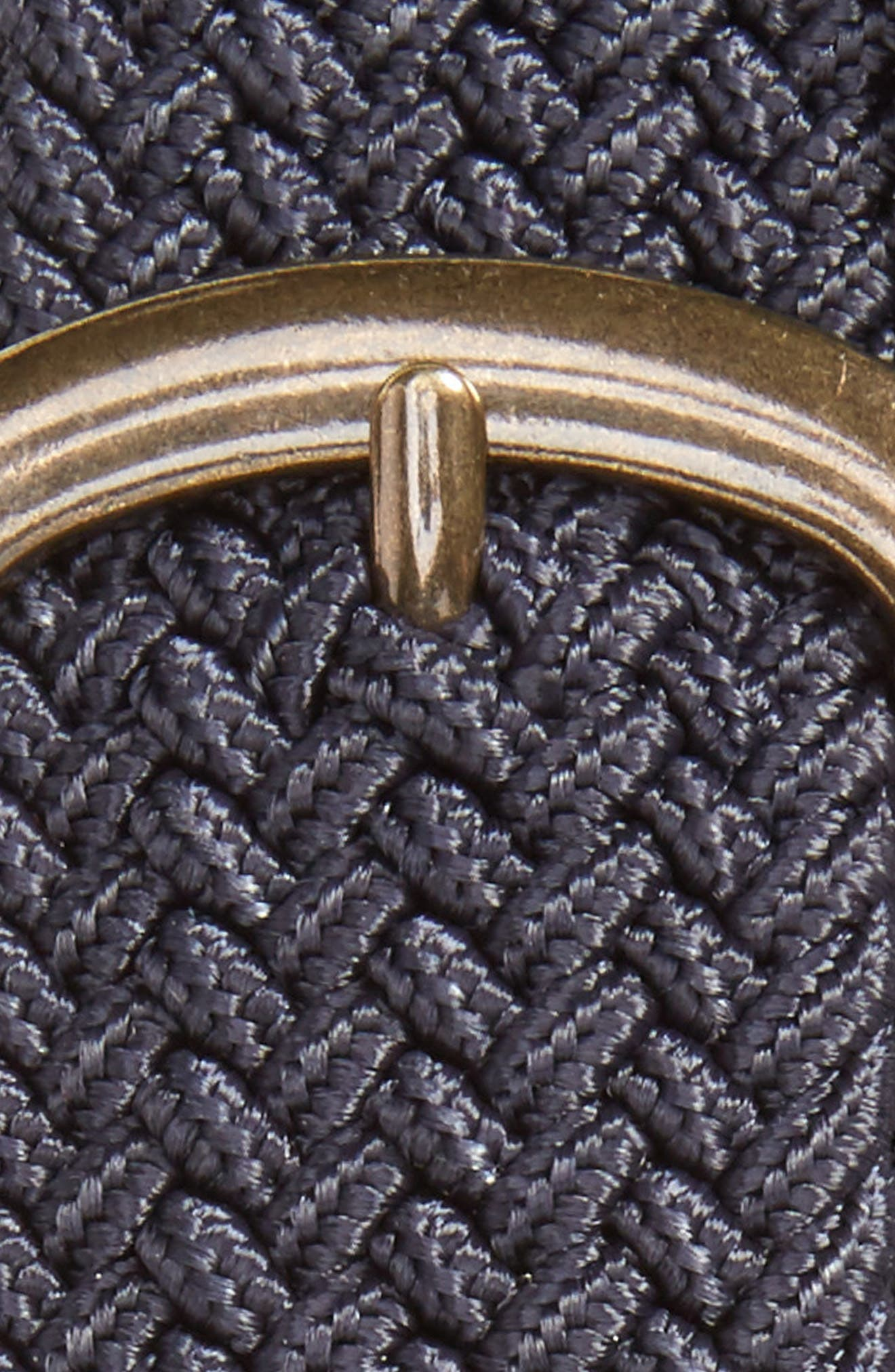 Gerbera Marled Woven Stretch Belt,                             Alternate thumbnail 2, color,                             Navy
