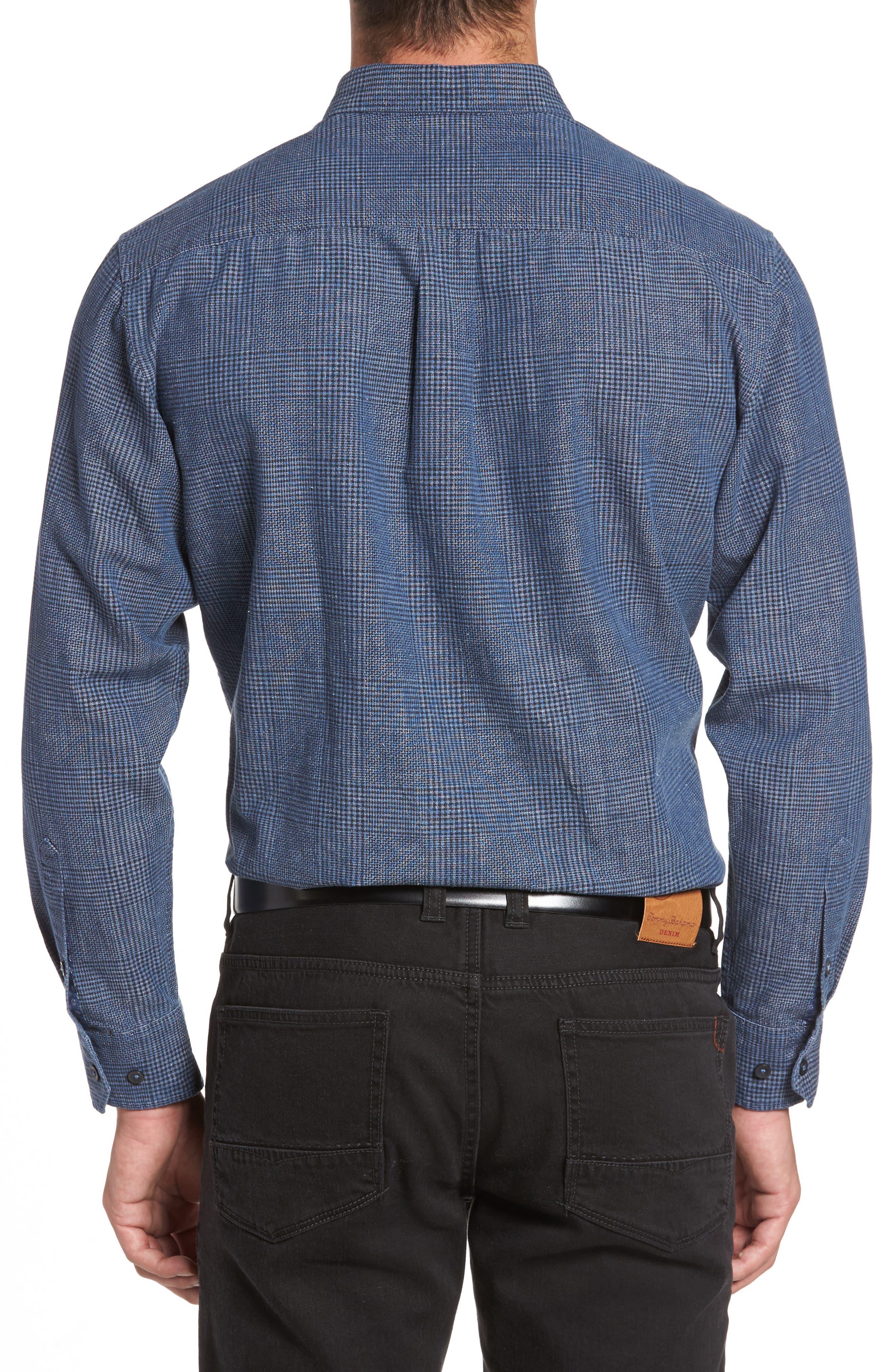 Alternate Image 2  - Tommy Bahama Almeria Standard Fit Plaid Sport Shirt