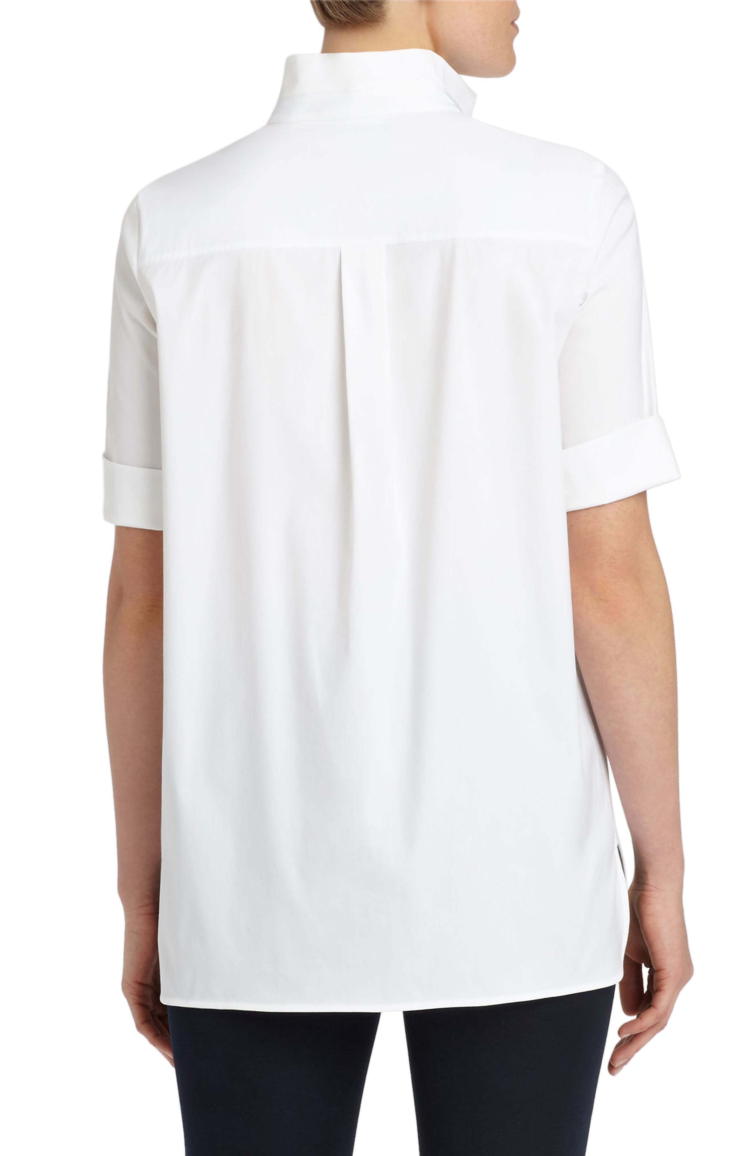 Daley High/Low Blouse,                             Alternate thumbnail 2, color,                             White
