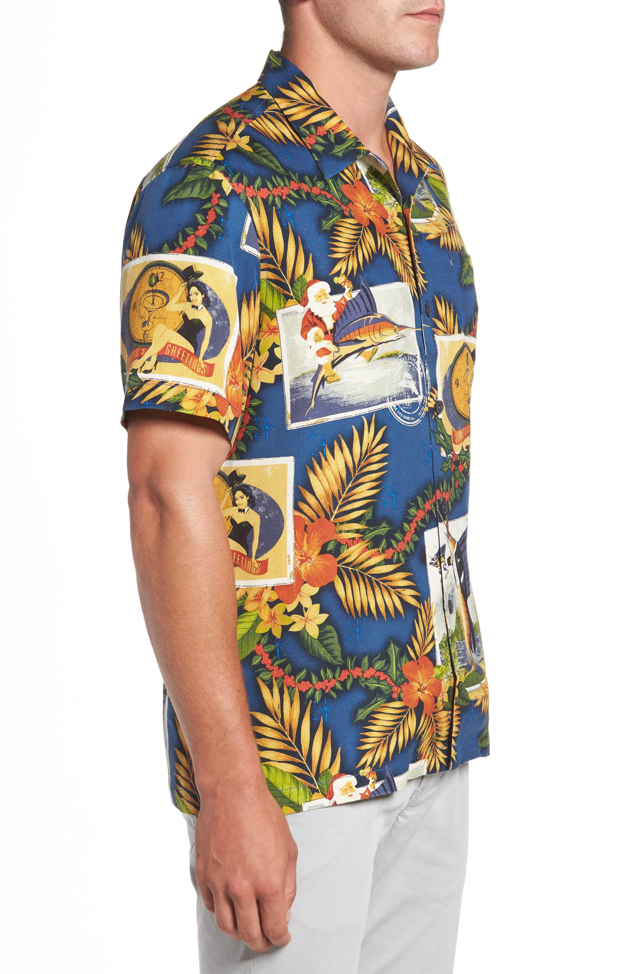 Alternate Image 3  - Tommy Bahama Tommy Holidays Silk Woven Shirt
