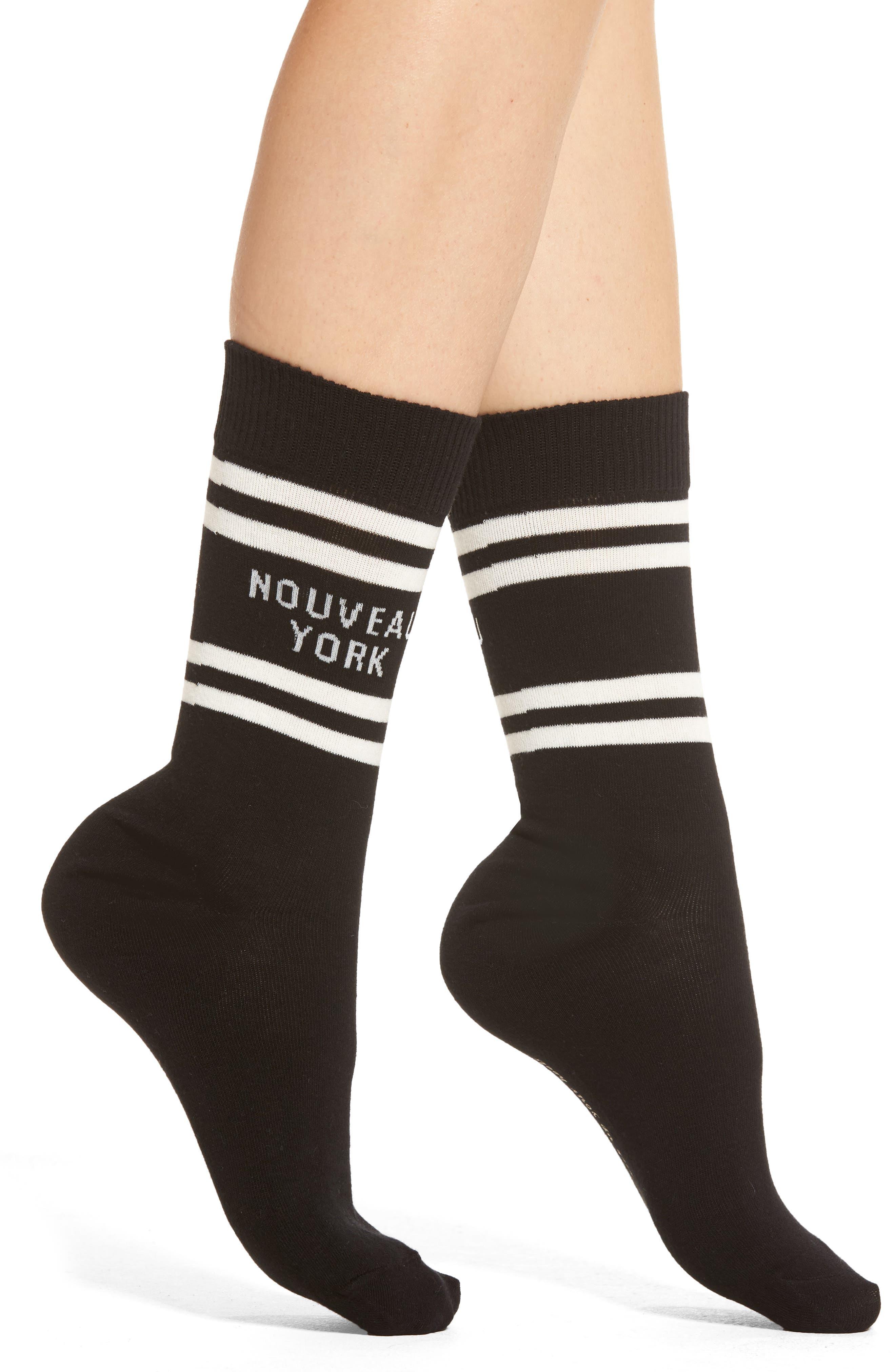Alternate Image 1 Selected - kate spade new york nouveau york crew socks