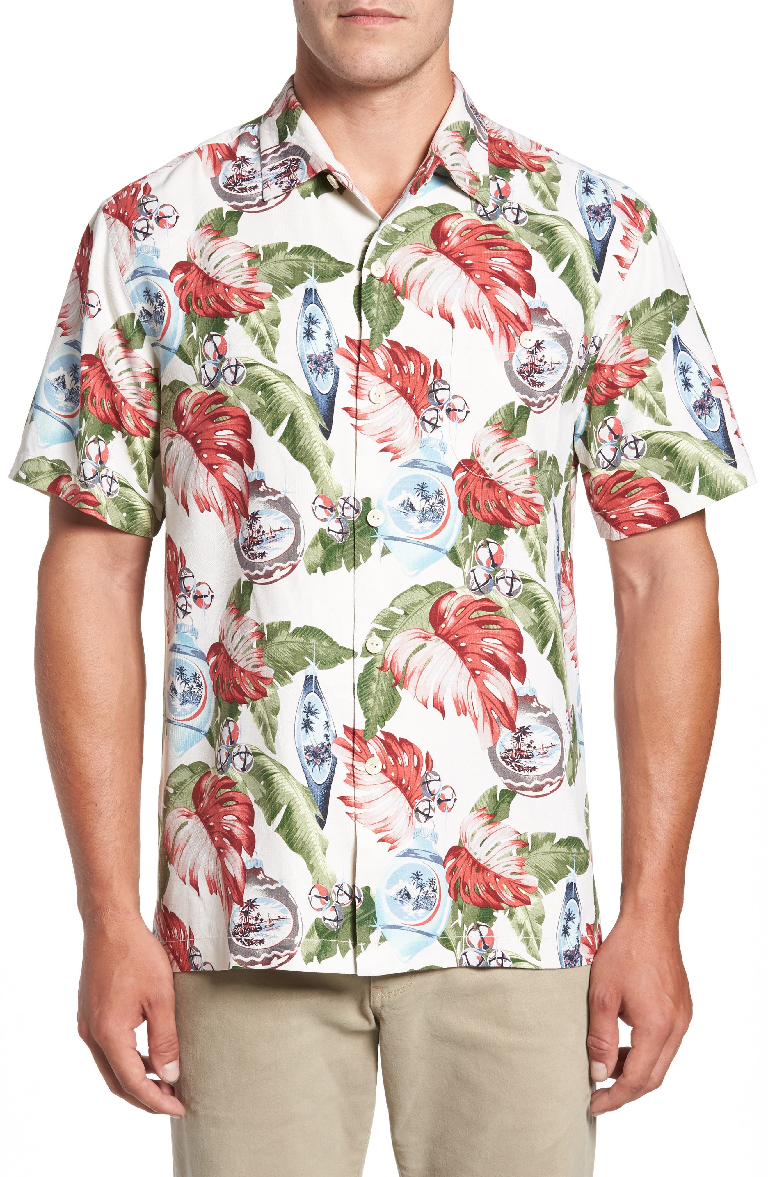 Tommy Bahama With Bells On Silk Camp Shirt (Big & Tall)