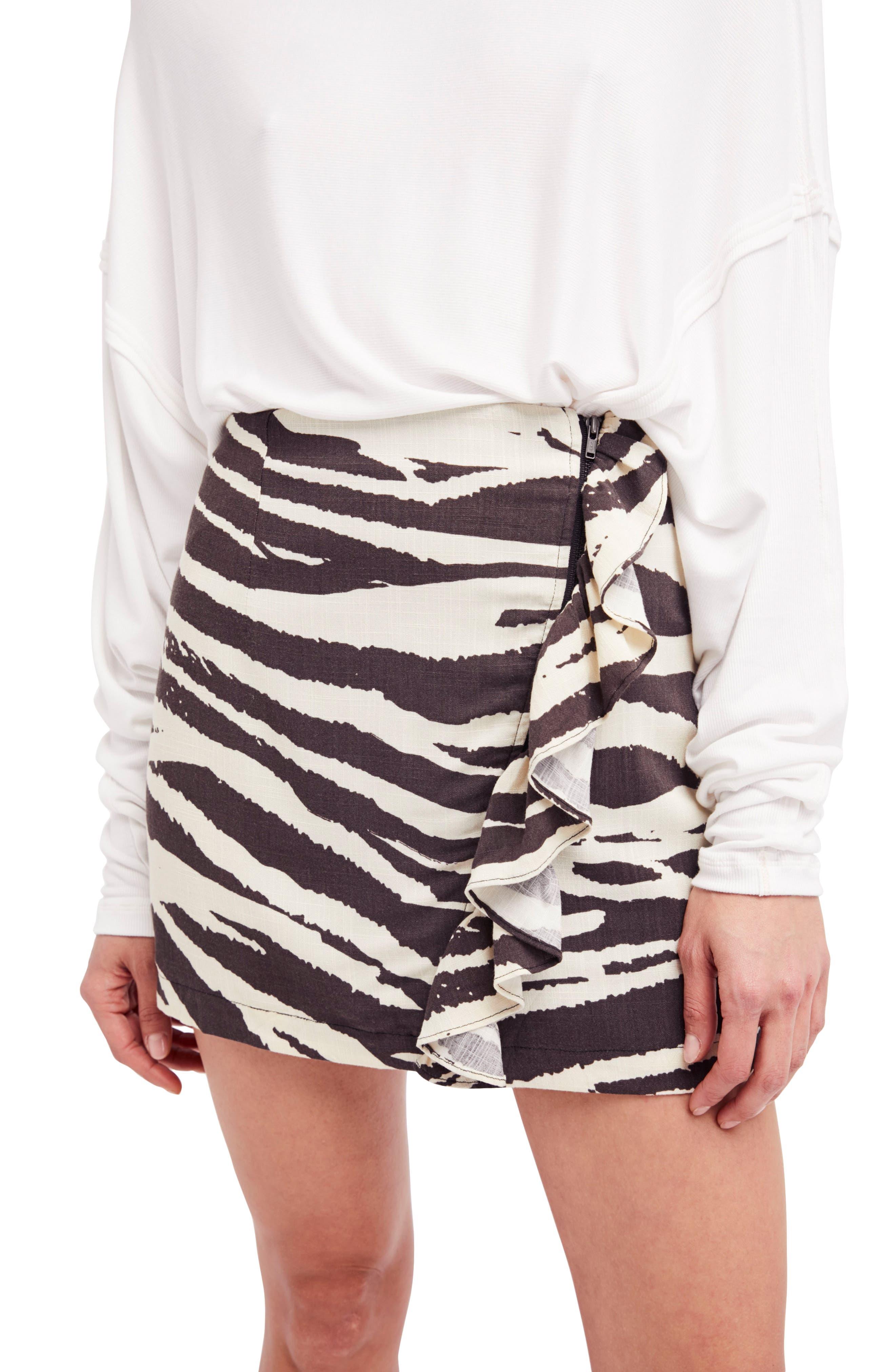 Free People Ruffle Babe Miniskirt