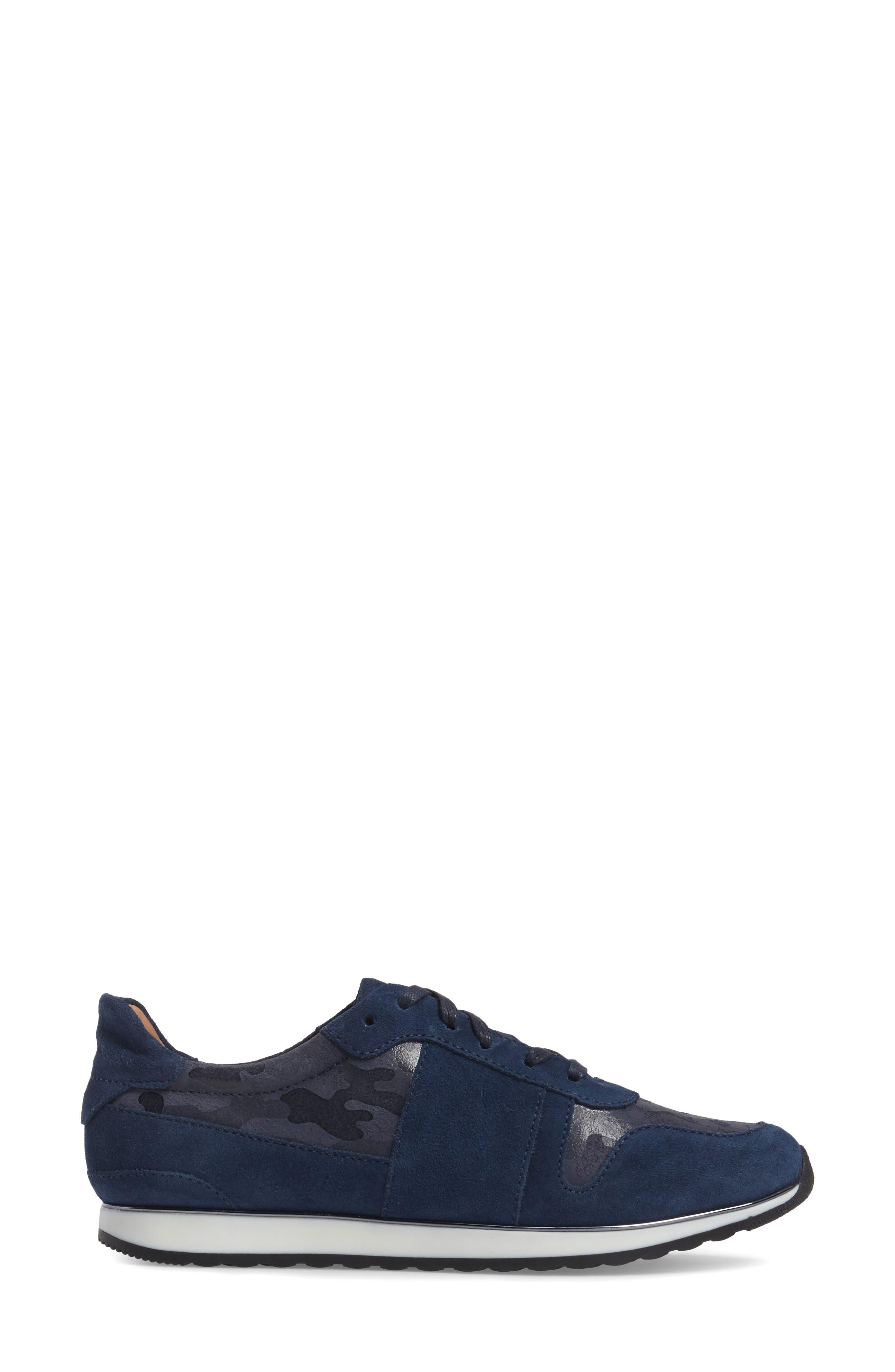 Stefani Sneaker,                             Alternate thumbnail 3, color,                             Camo Nubuck Leather