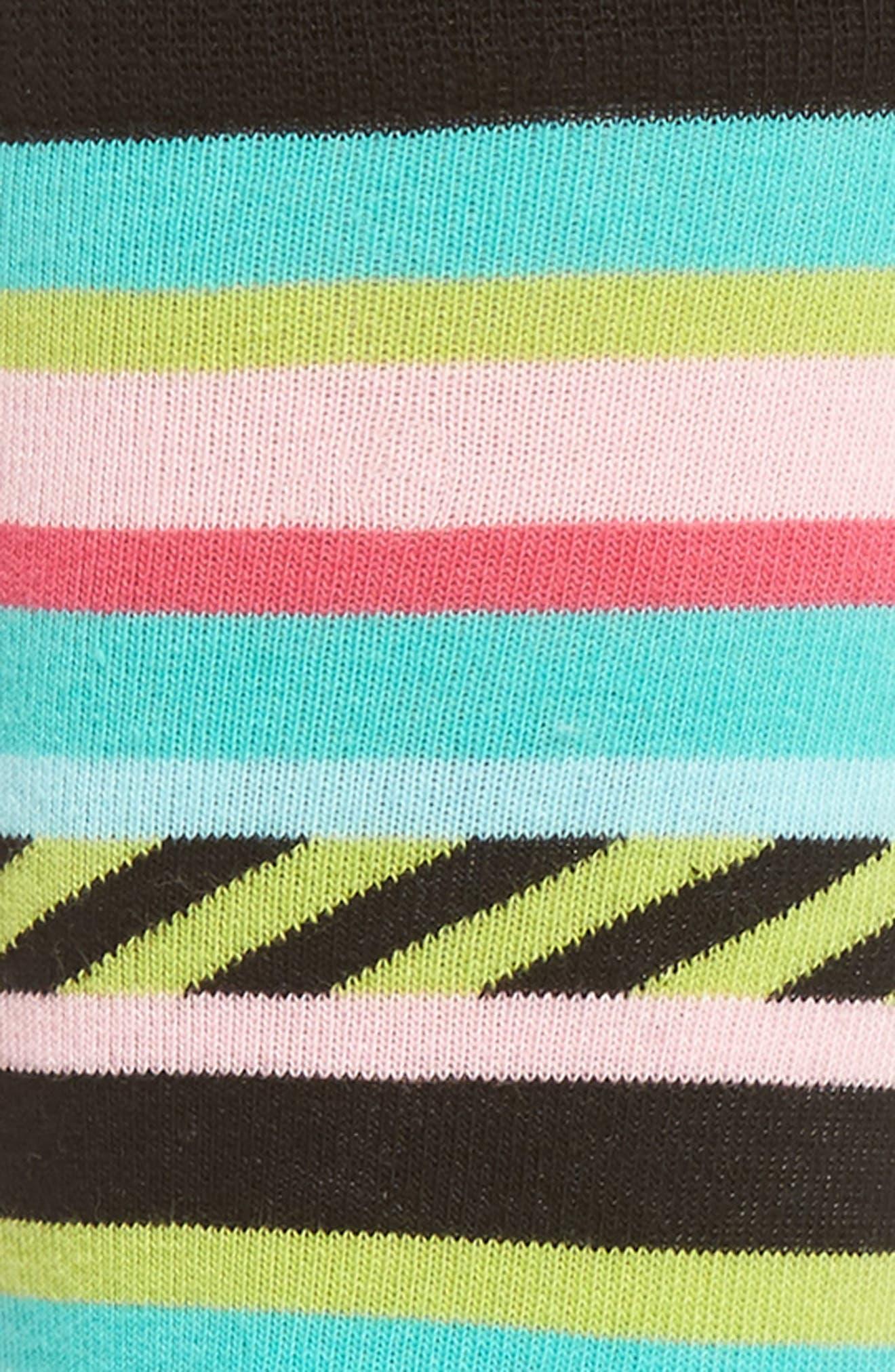 Alternate Image 2  - Happy Socks Stripes & Stripes Crew Socks (3 for $24.00)