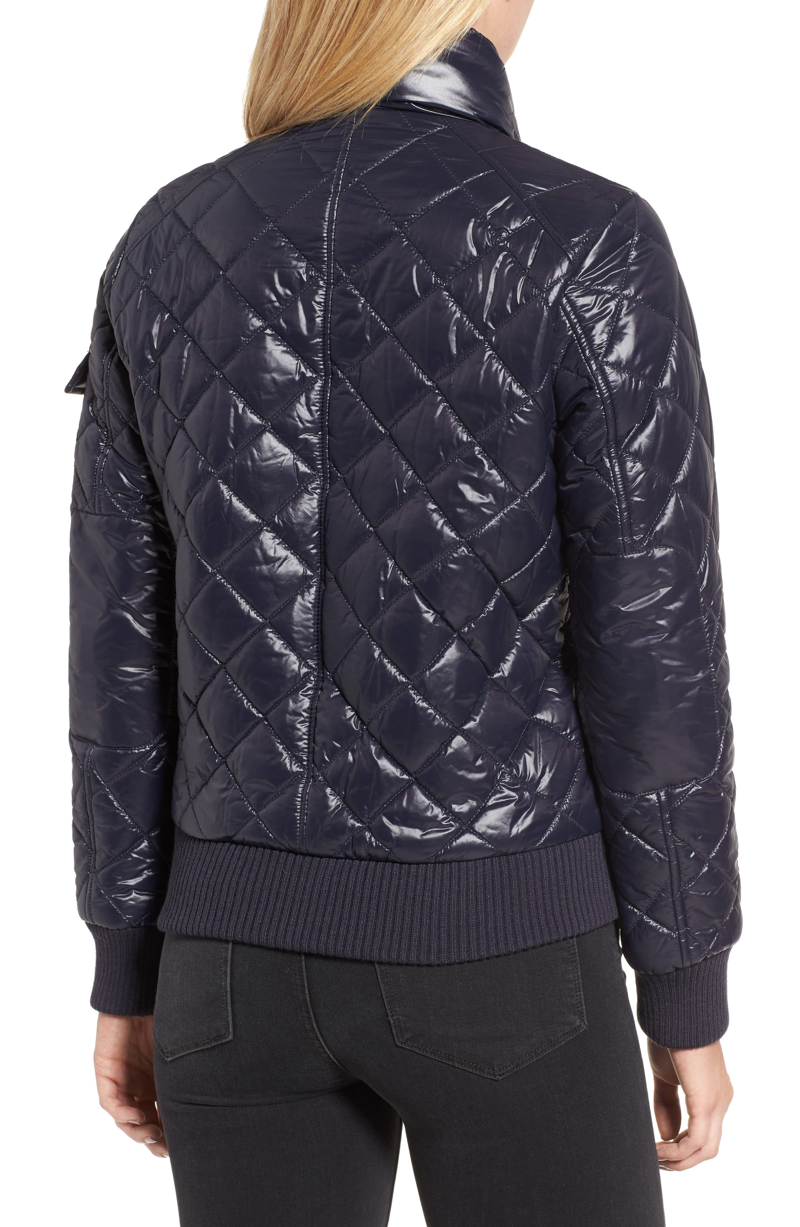 Alternate Image 2  - French Connection Quilted Bomber Jacket