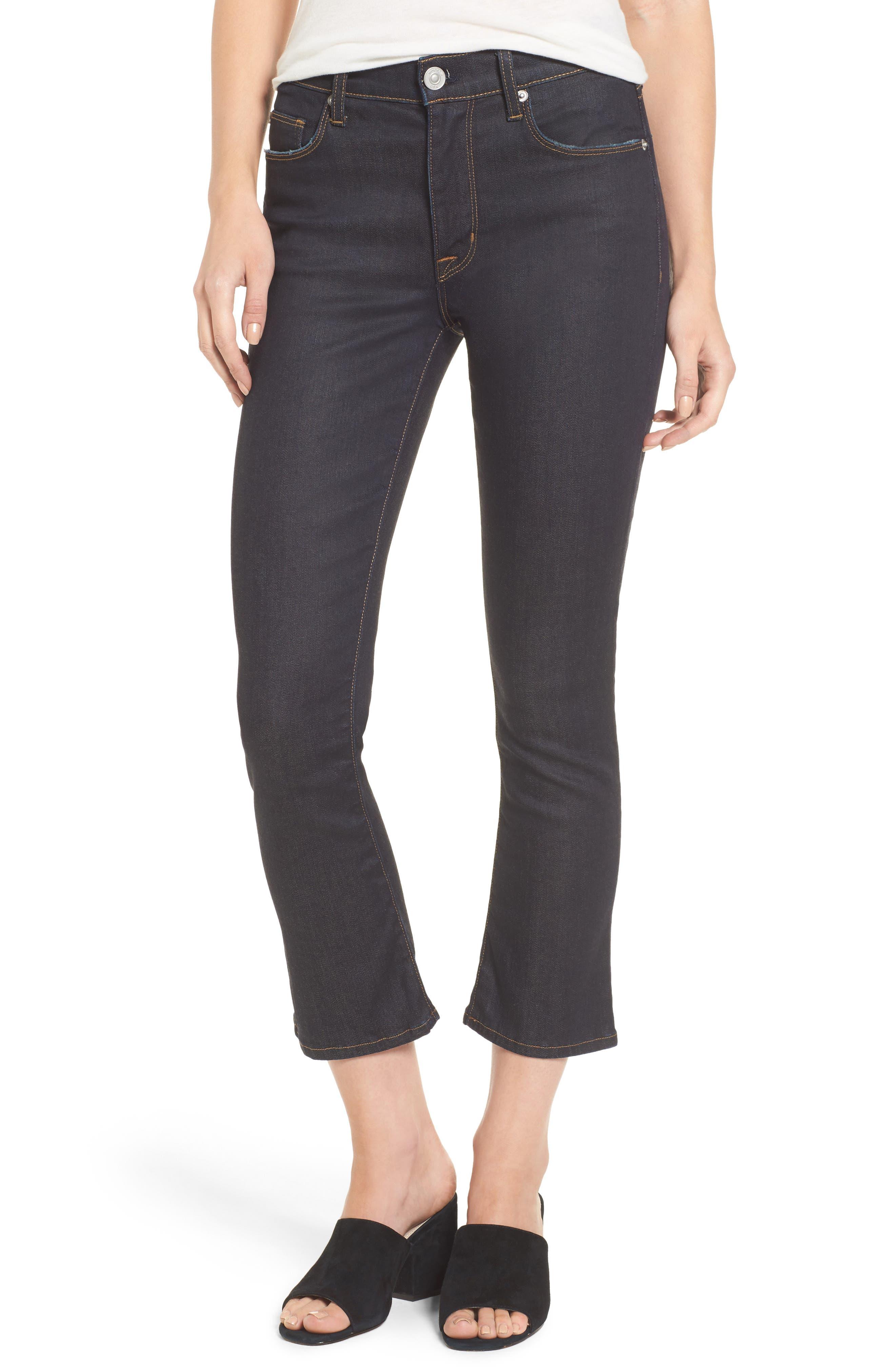 Hudson Jeans Harper High Waist Crop Flare Jeans (Awakening)