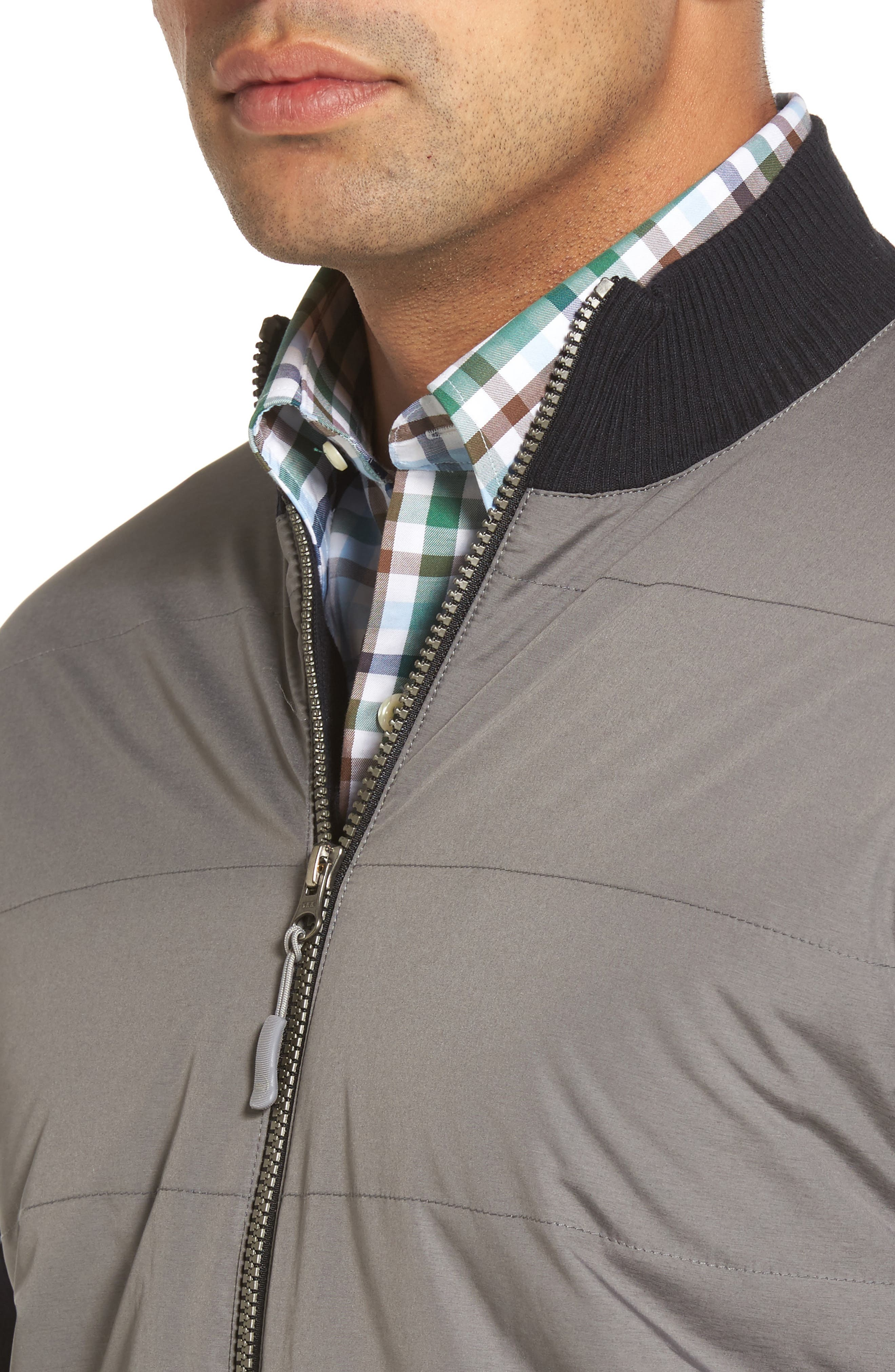 Alternate Image 4  - Peter Millar Patterson Zip Hybrid Jacket