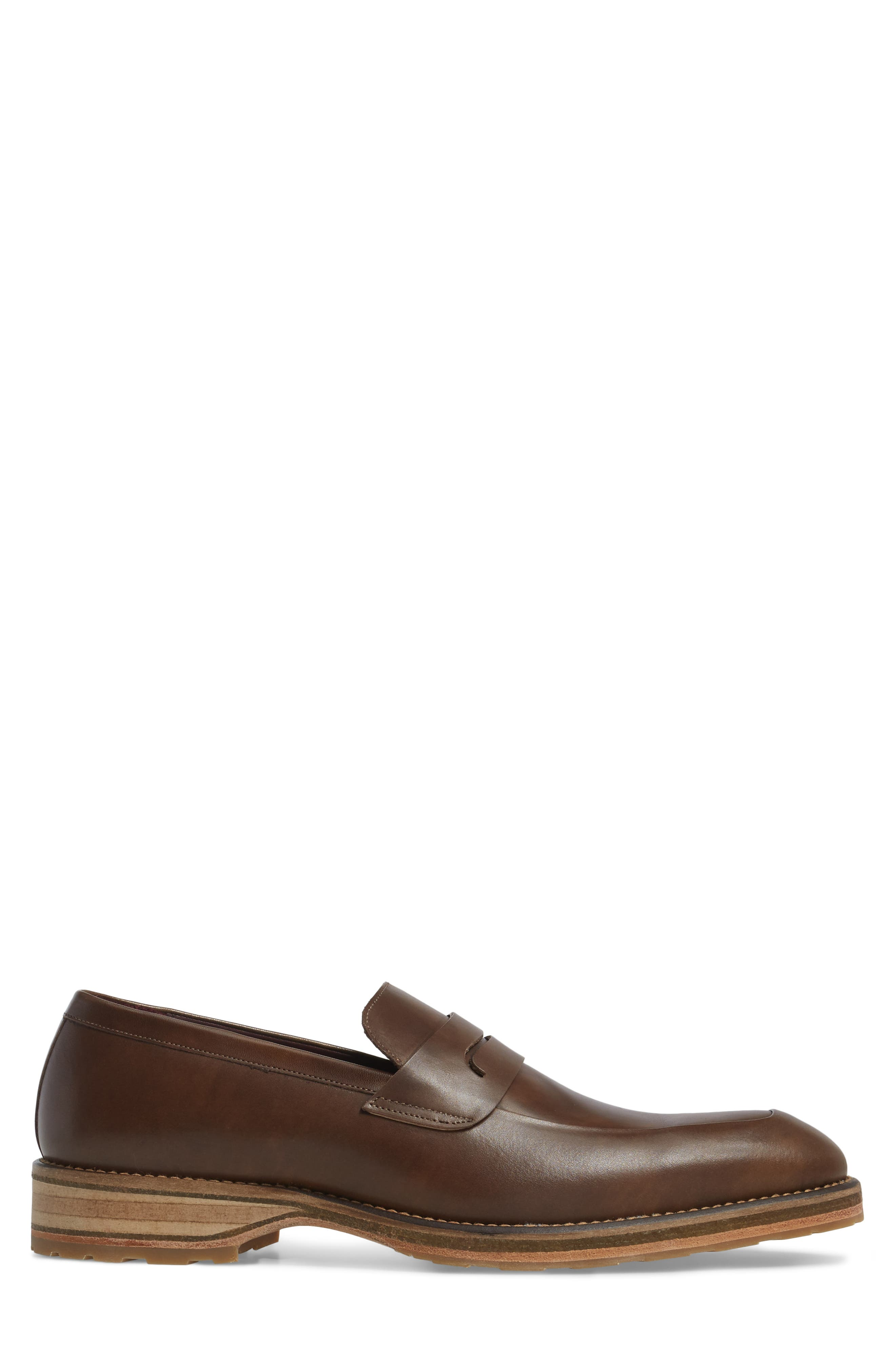 Cantonia Penny Loafer,                             Alternate thumbnail 3, color,                             Taupe Leather