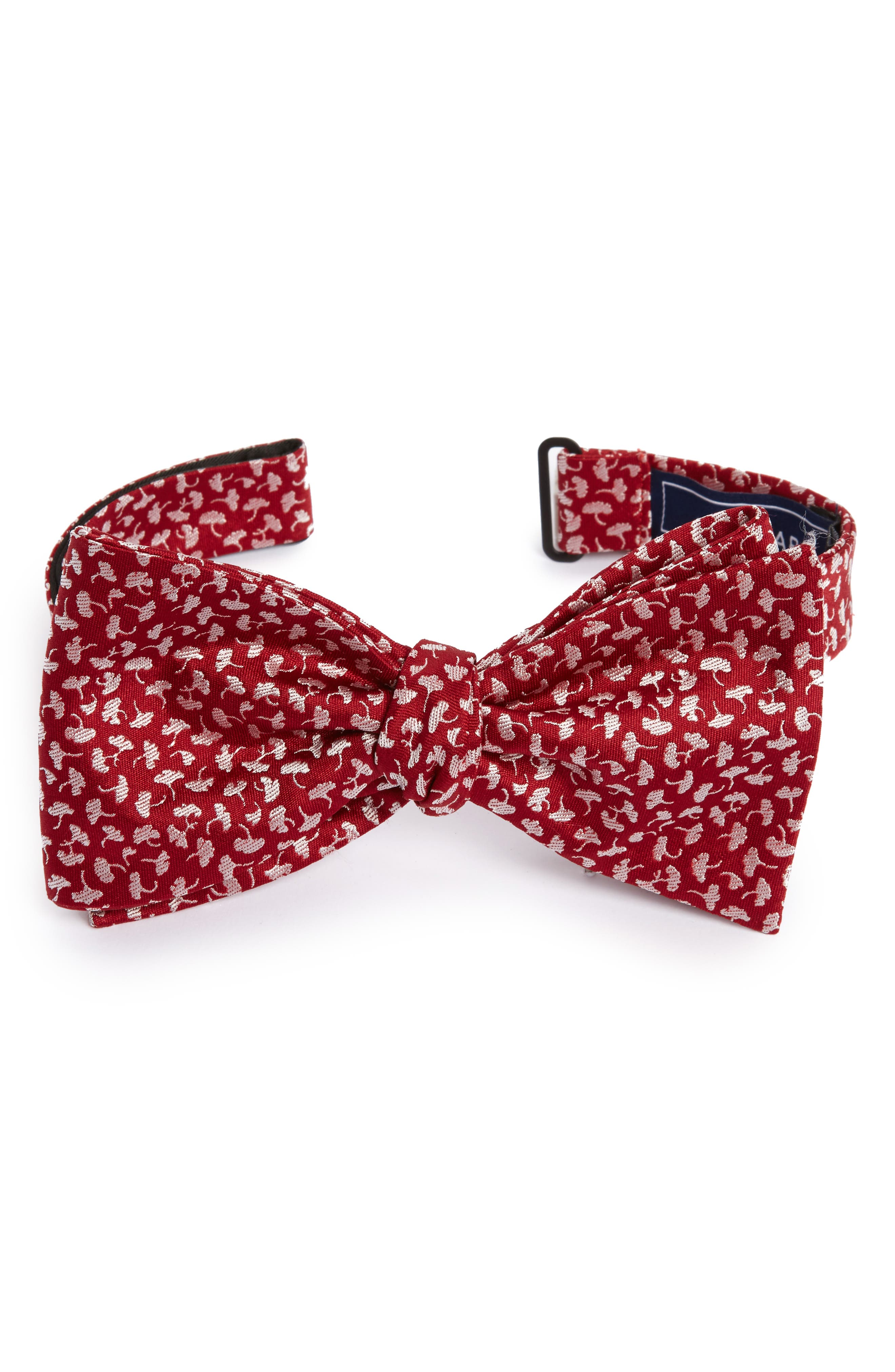 True Floral Silk Bow Tie,                             Main thumbnail 1, color,                             Red