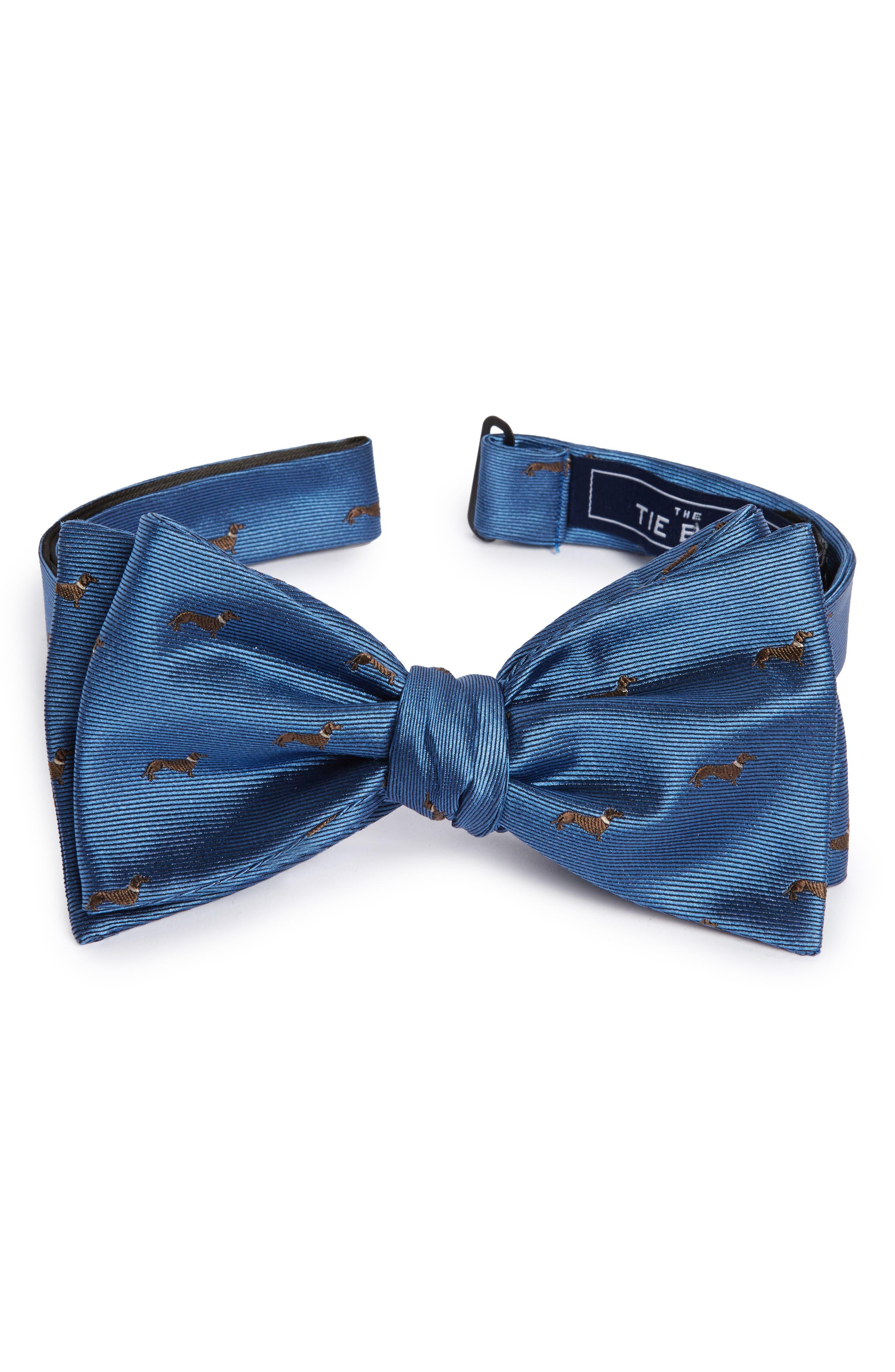 The Tie Bar Dog Days Silk Bow Tie