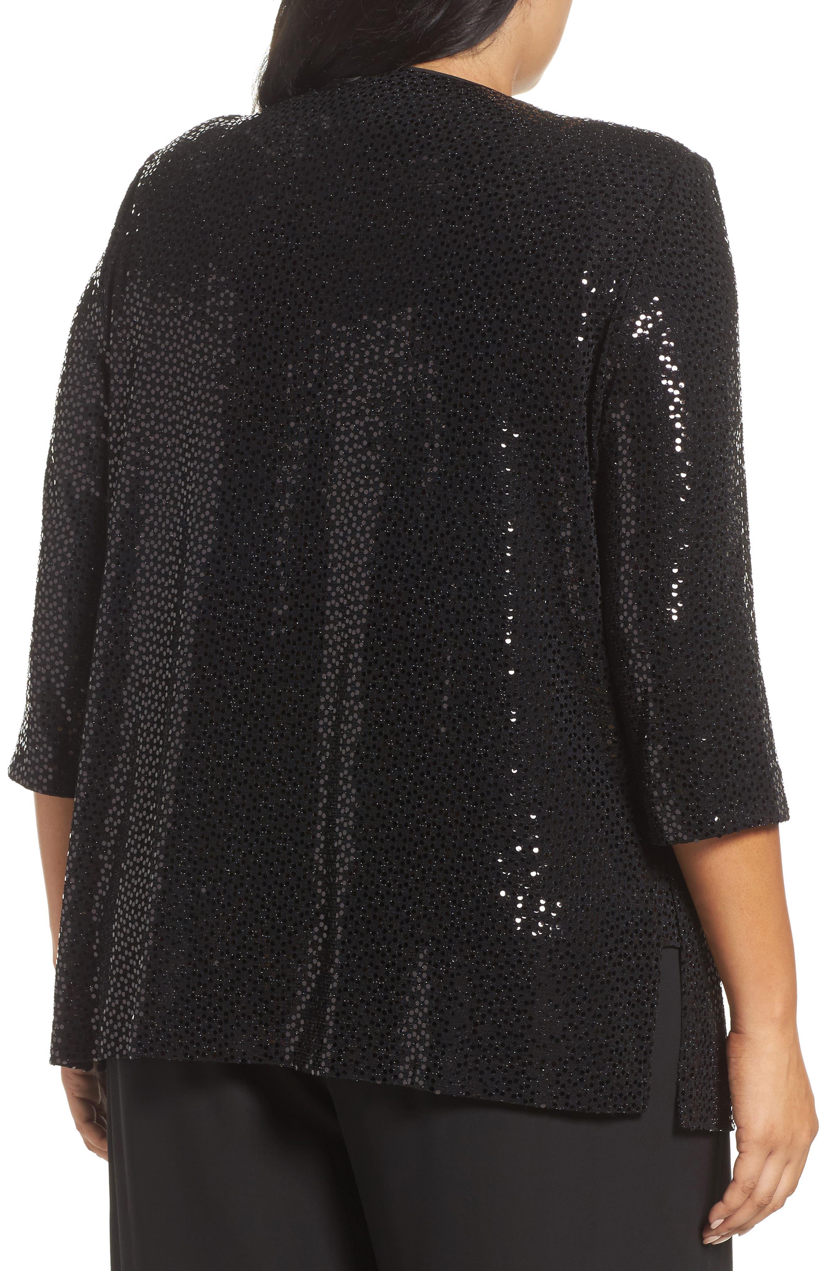 Alternate Image 2  - Alex Evenings Sequin Knit Twinset (Plus Size)