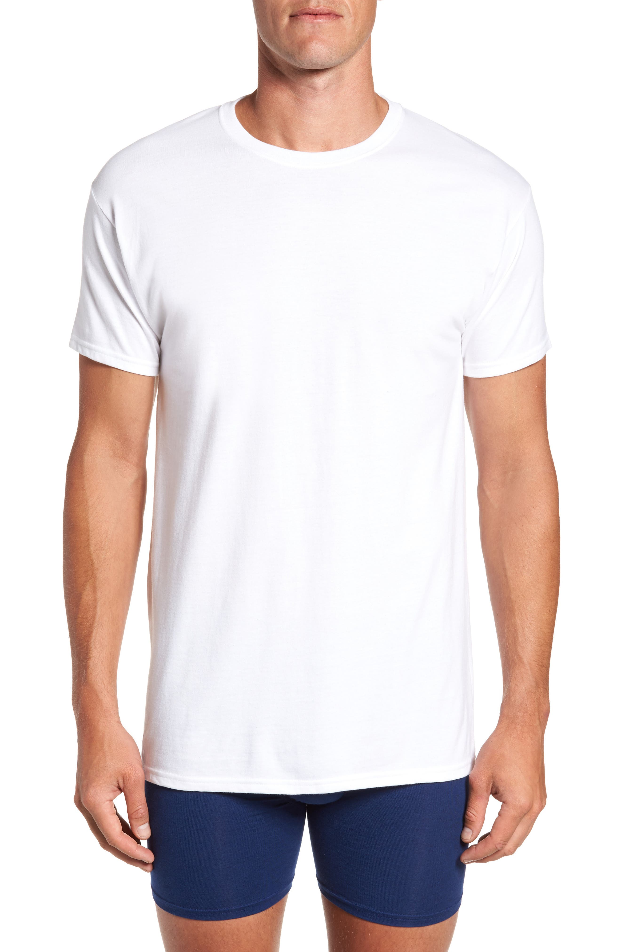 Alternate Image 2  - Hanes Luxury Essentials 3-Pack T-Shirt