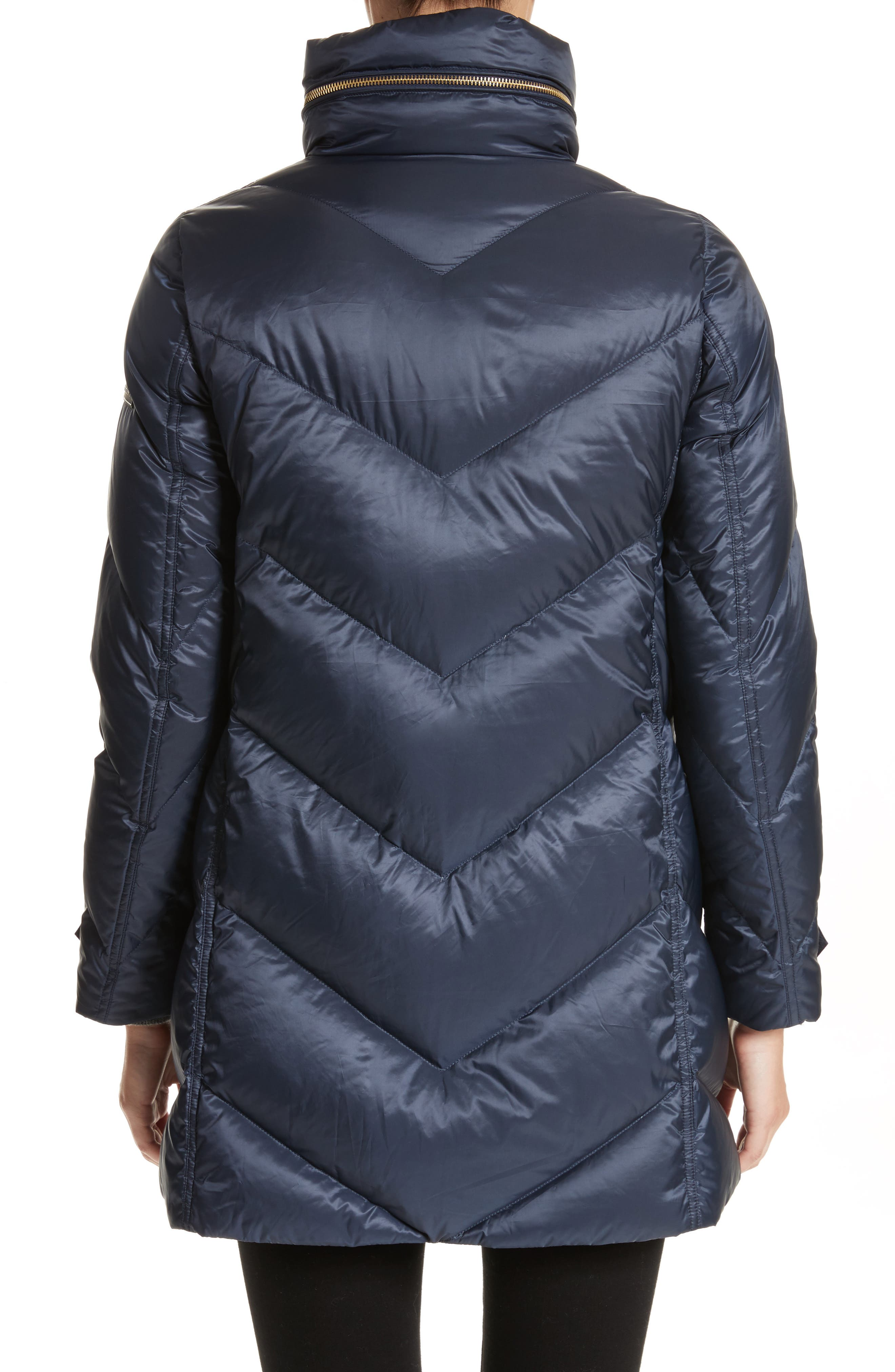 Eastwick Chevron Quilted Coat,                             Alternate thumbnail 2, color,                             Ink
