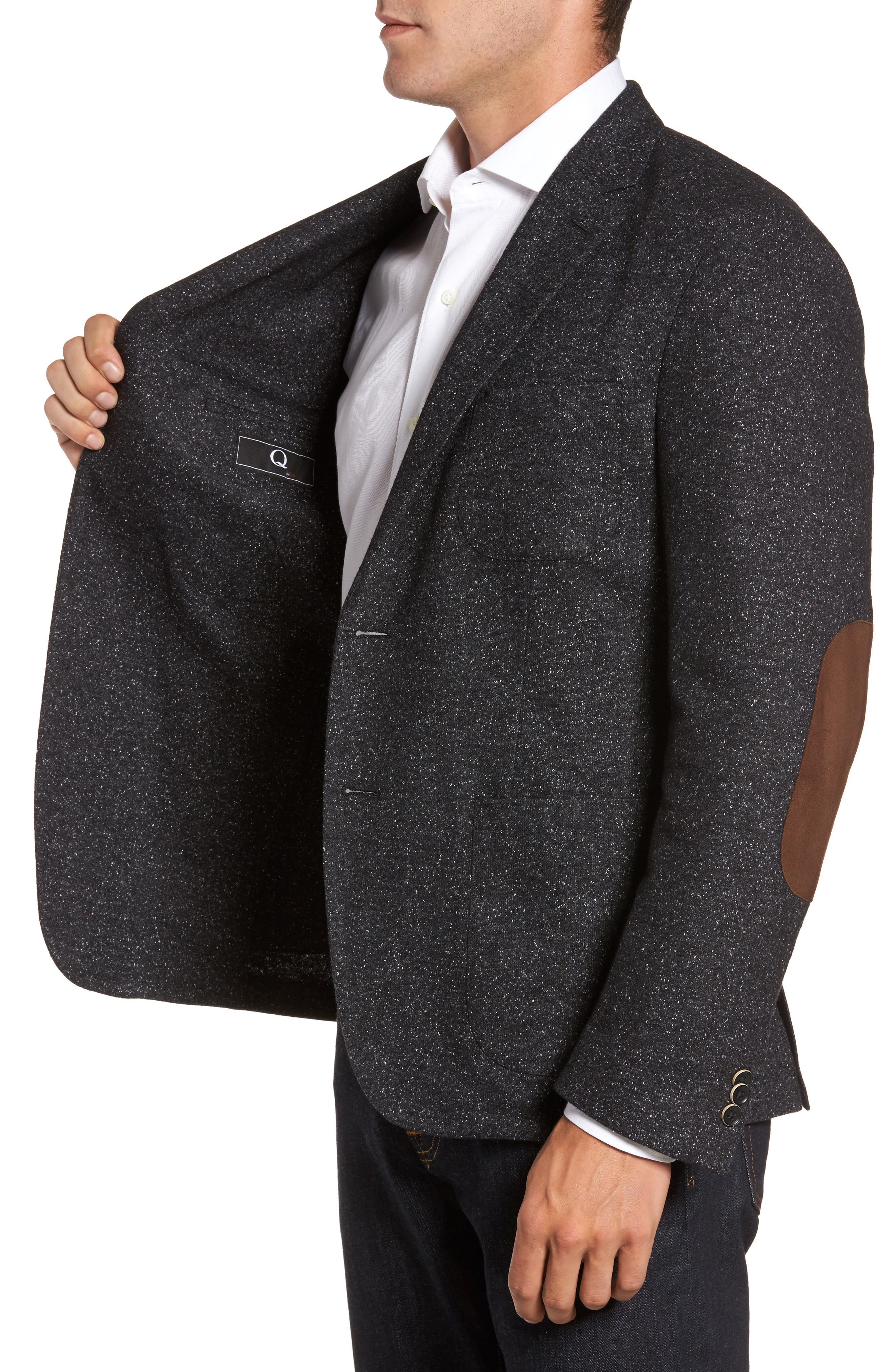Alternate Image 3  - FLYNT Donegal Classic Fit Suede Trim Jersey Sport Coat