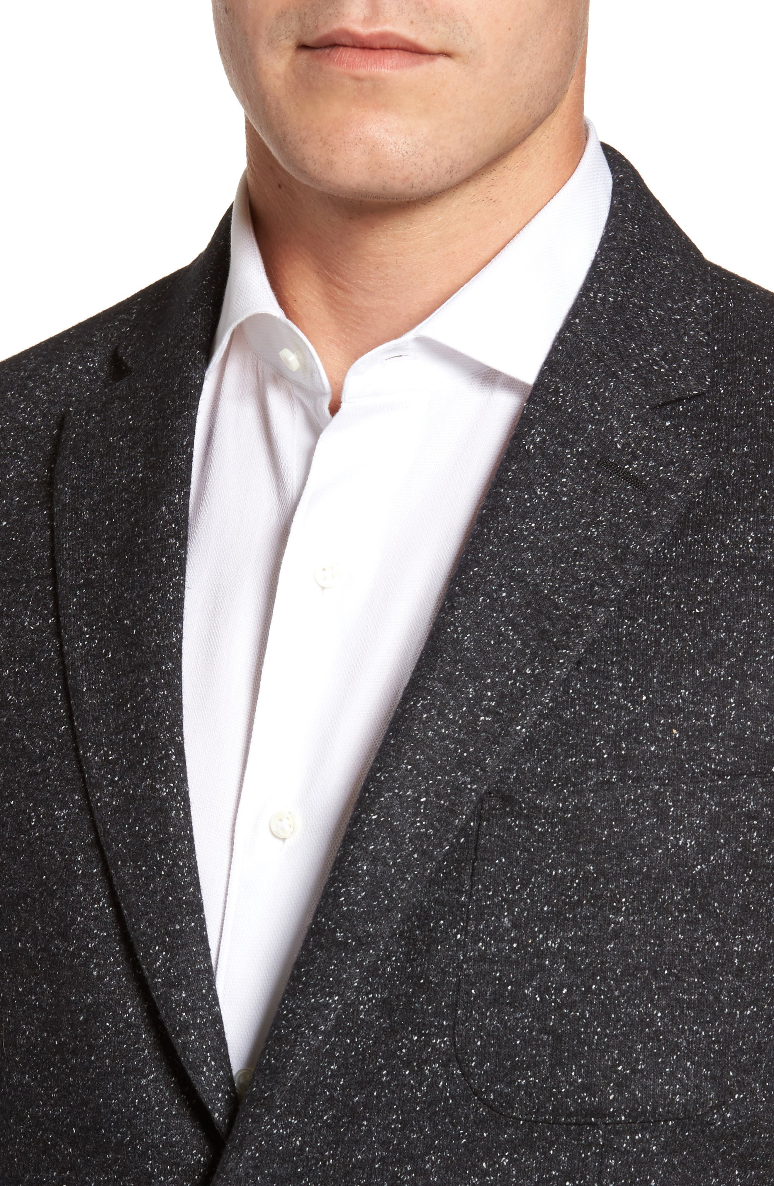 Alternate Image 4  - FLYNT Donegal Classic Fit Suede Trim Jersey Sport Coat
