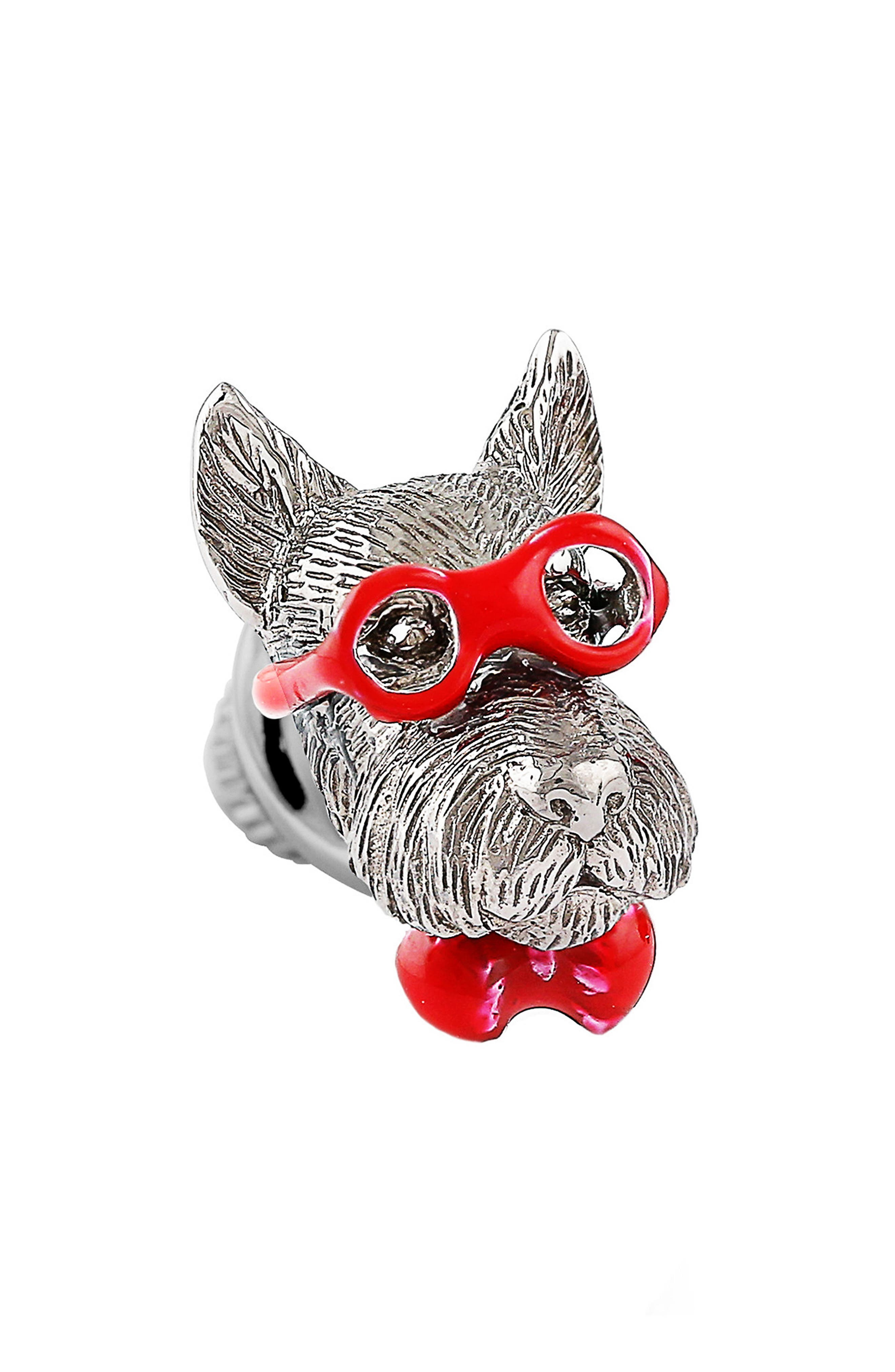 Scottish Terrier Pin,                         Main,                         color, Red
